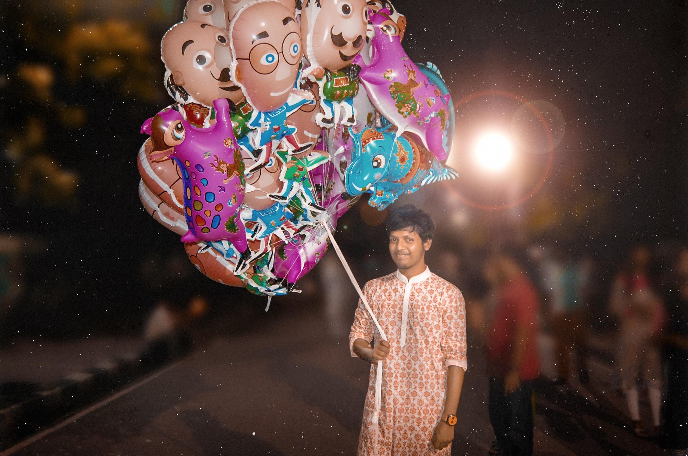 Gambar Fotografi Balon Perjalanan Malam Karnaval Warna Mode Teman Festival