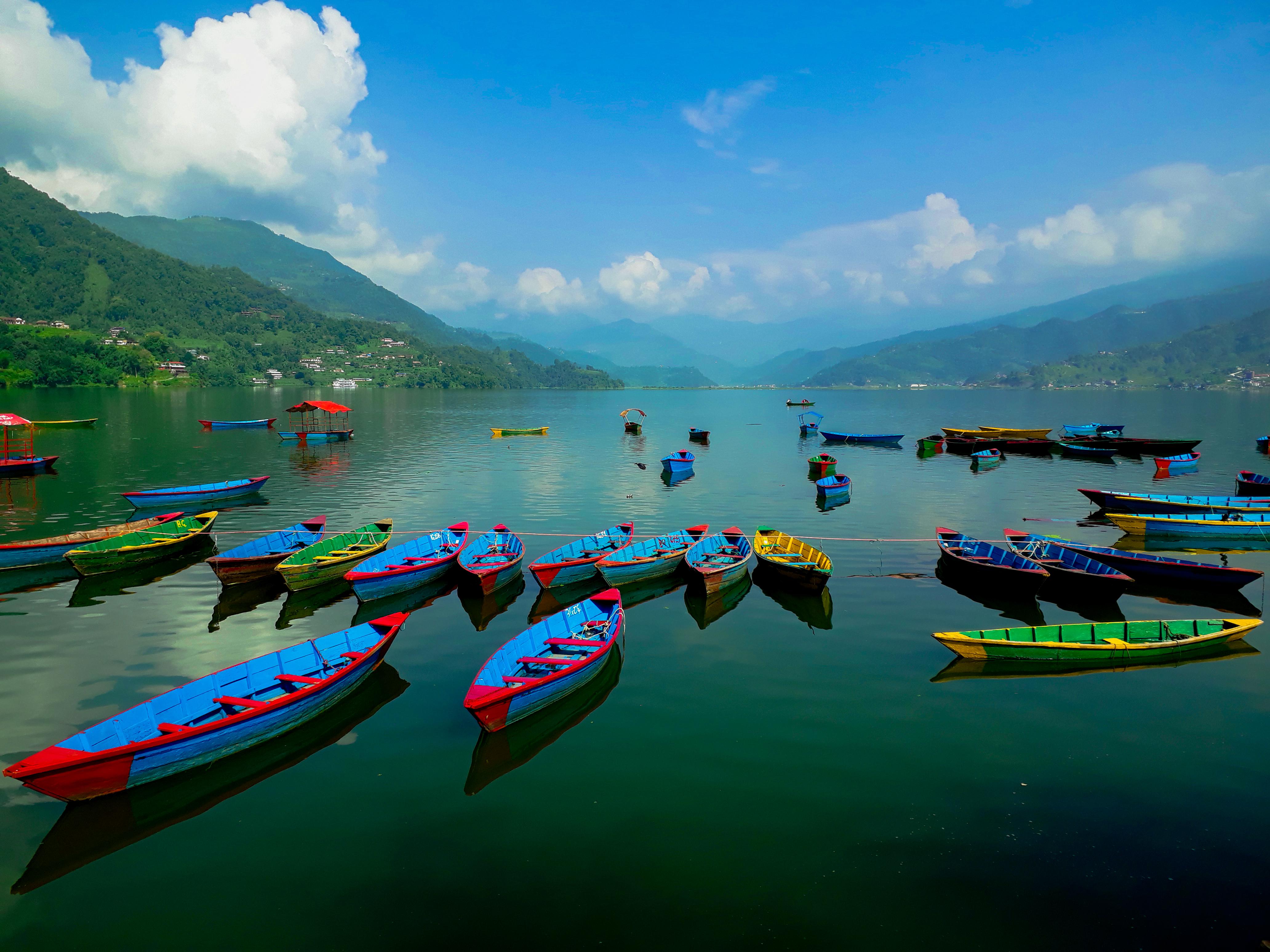 Free Images : photography, canon, nepal, Pokhara Lakeside