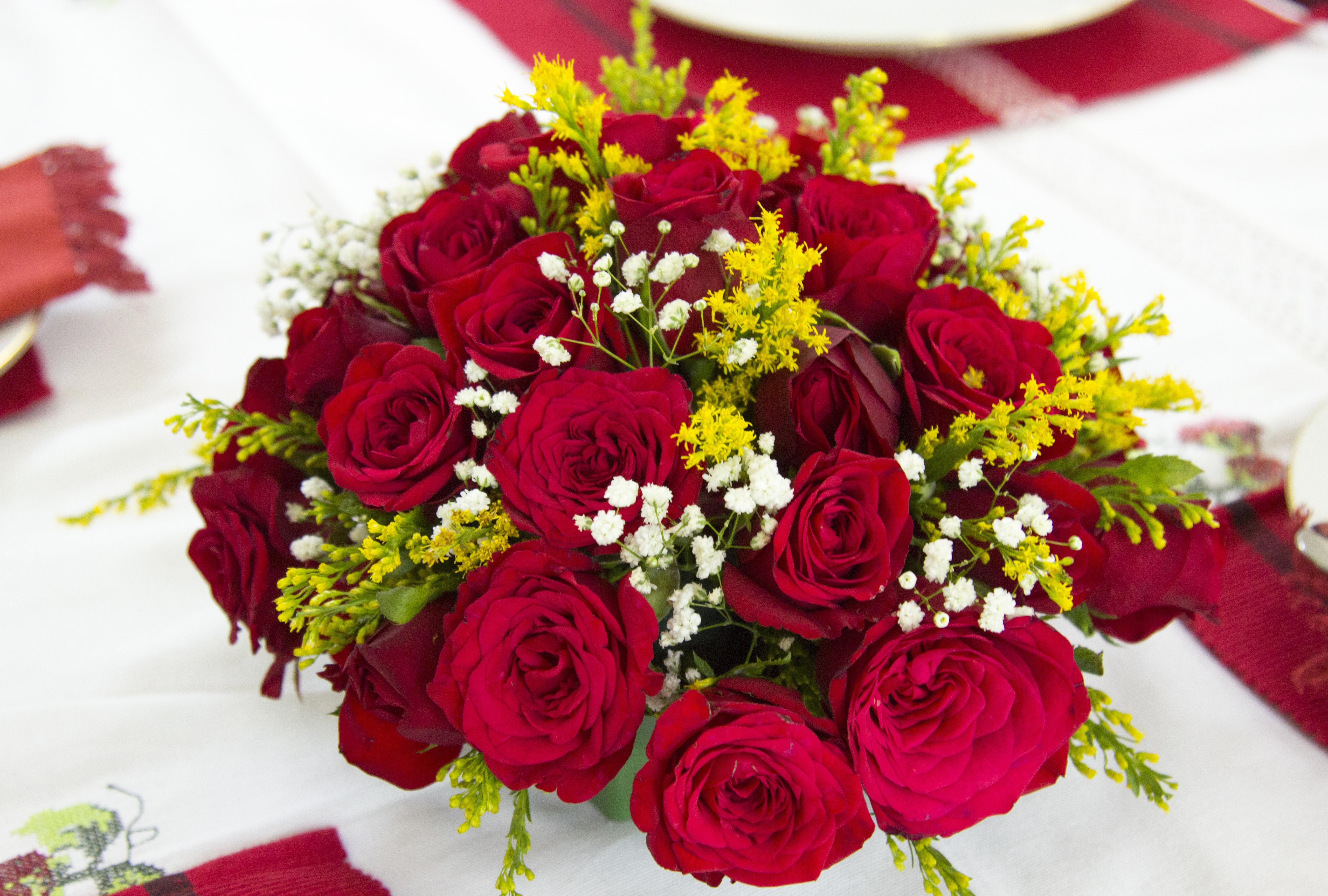 Kostenlose Foto Blutenblatt Strauss Rot Rote Blume Blumenstrauss