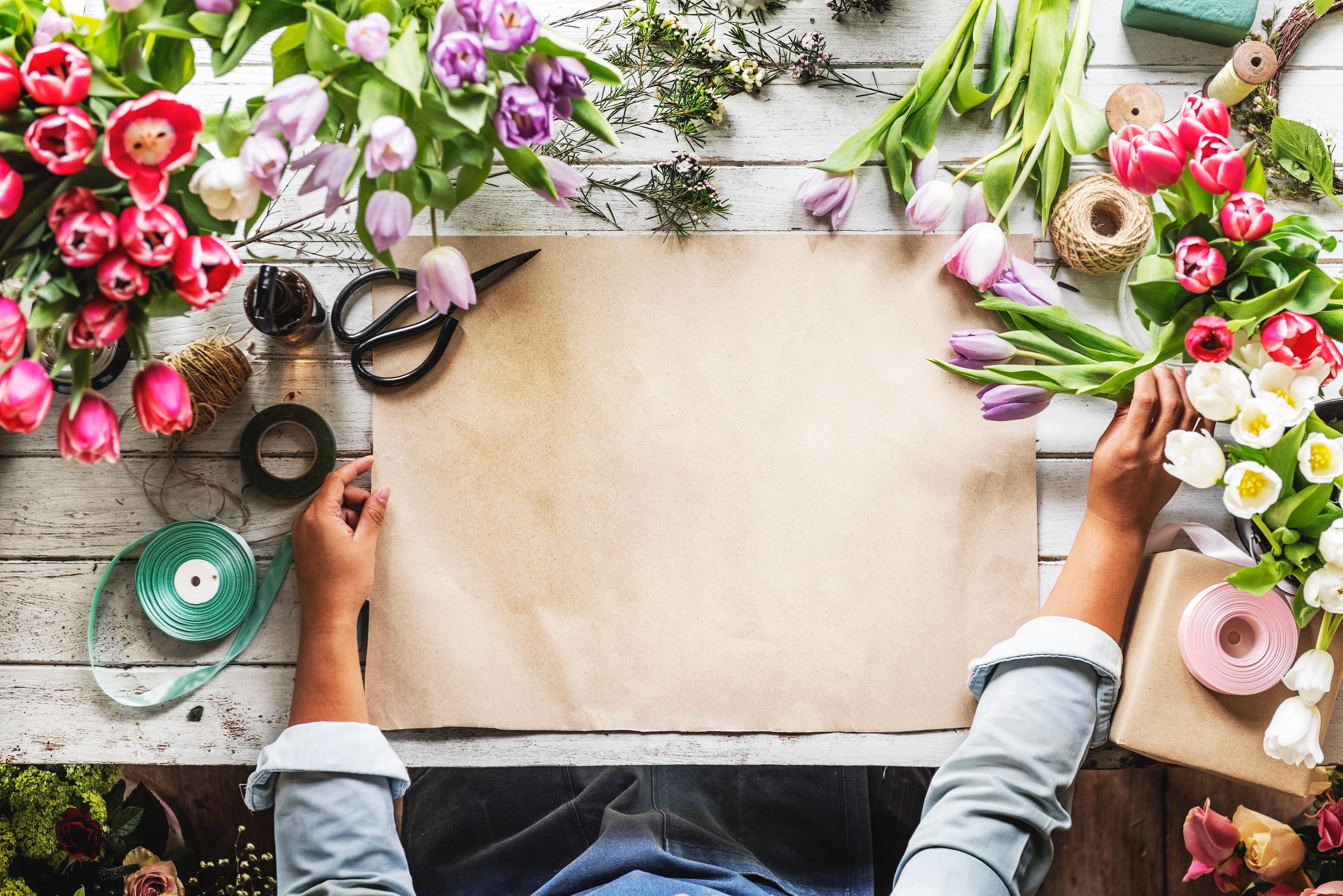 Креативные фото с цветами