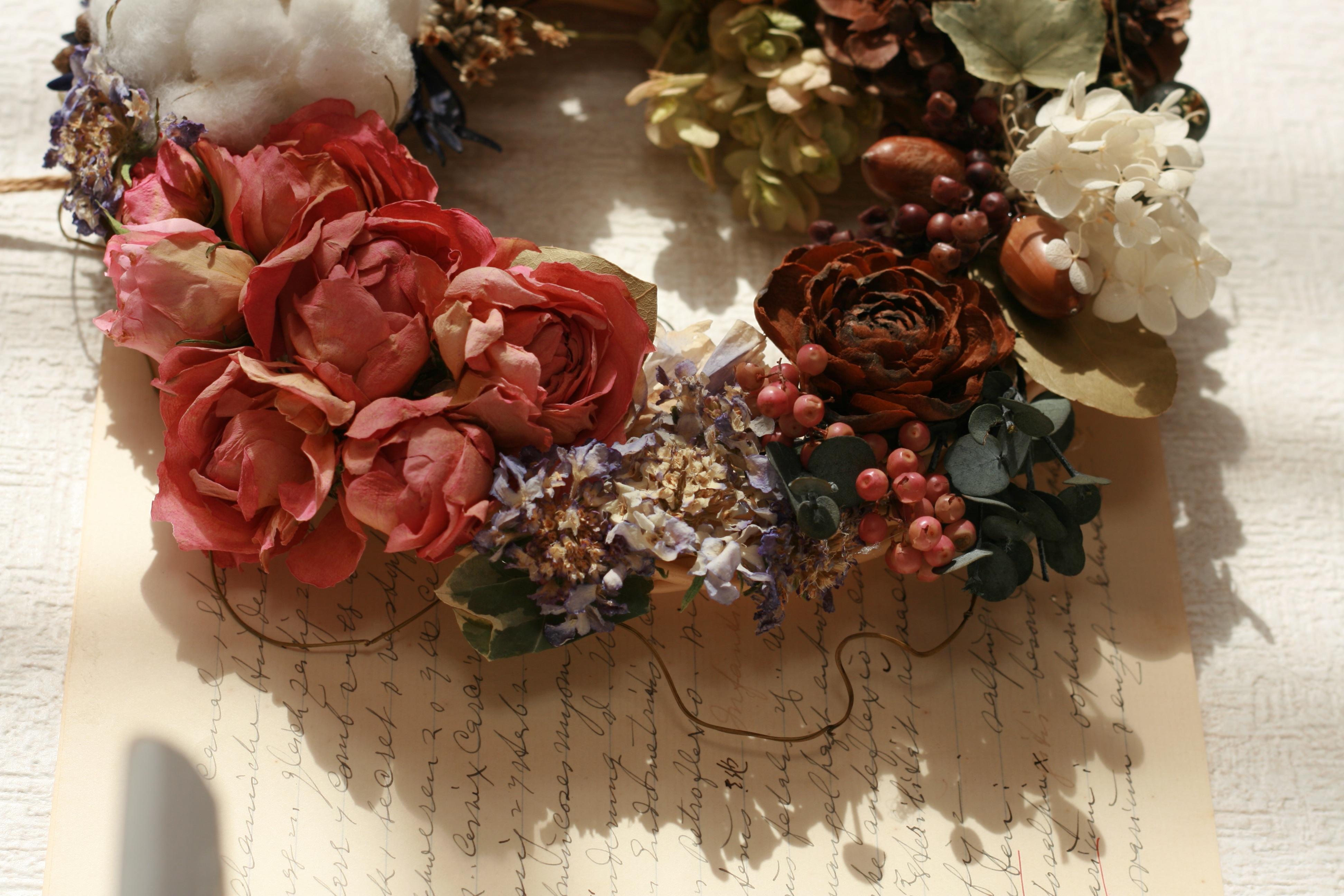 Флористика фото сухие цветы листья