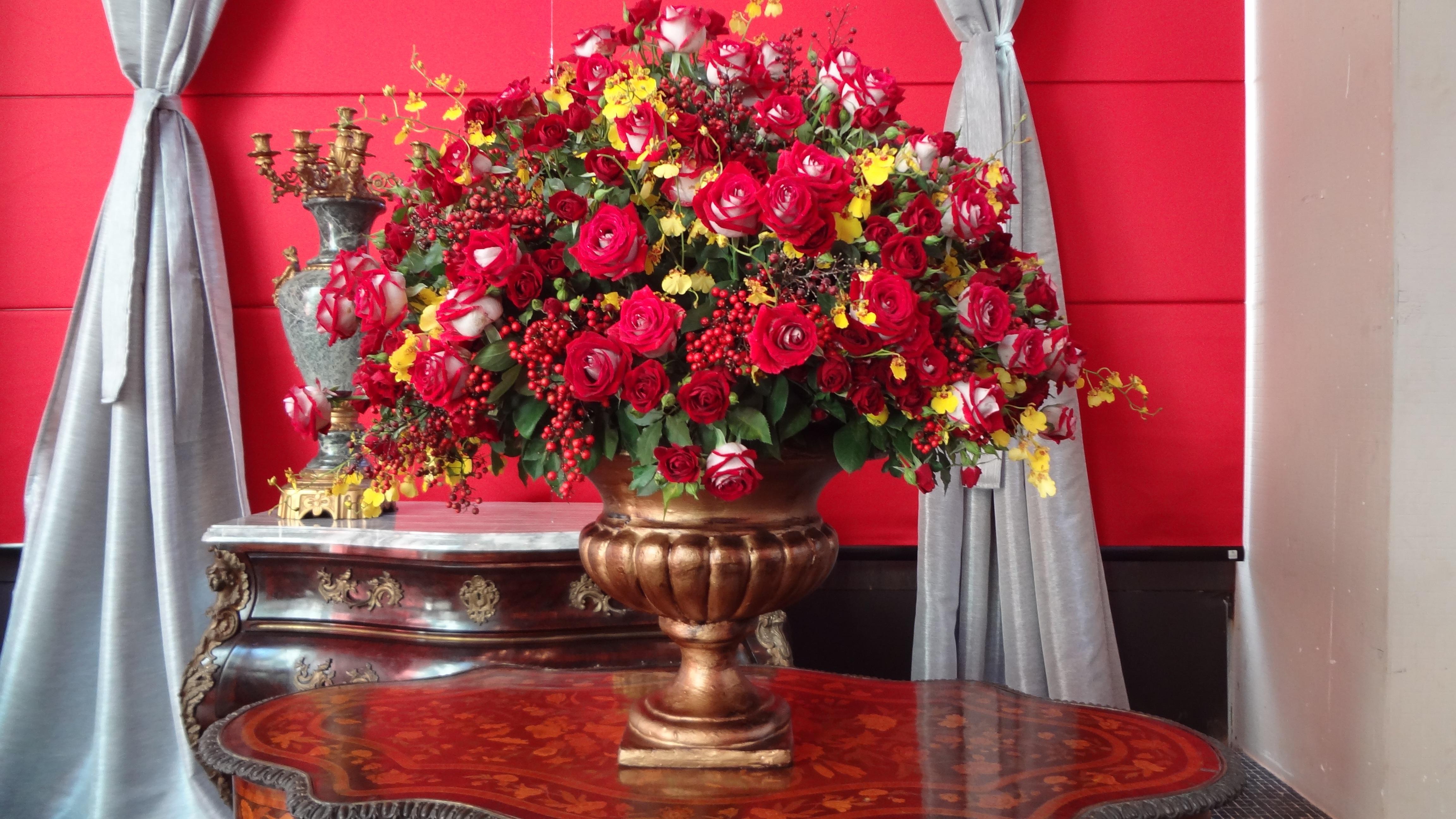 Fotos Gratis Planta Flor Rojo Navidad Arreglo Floral