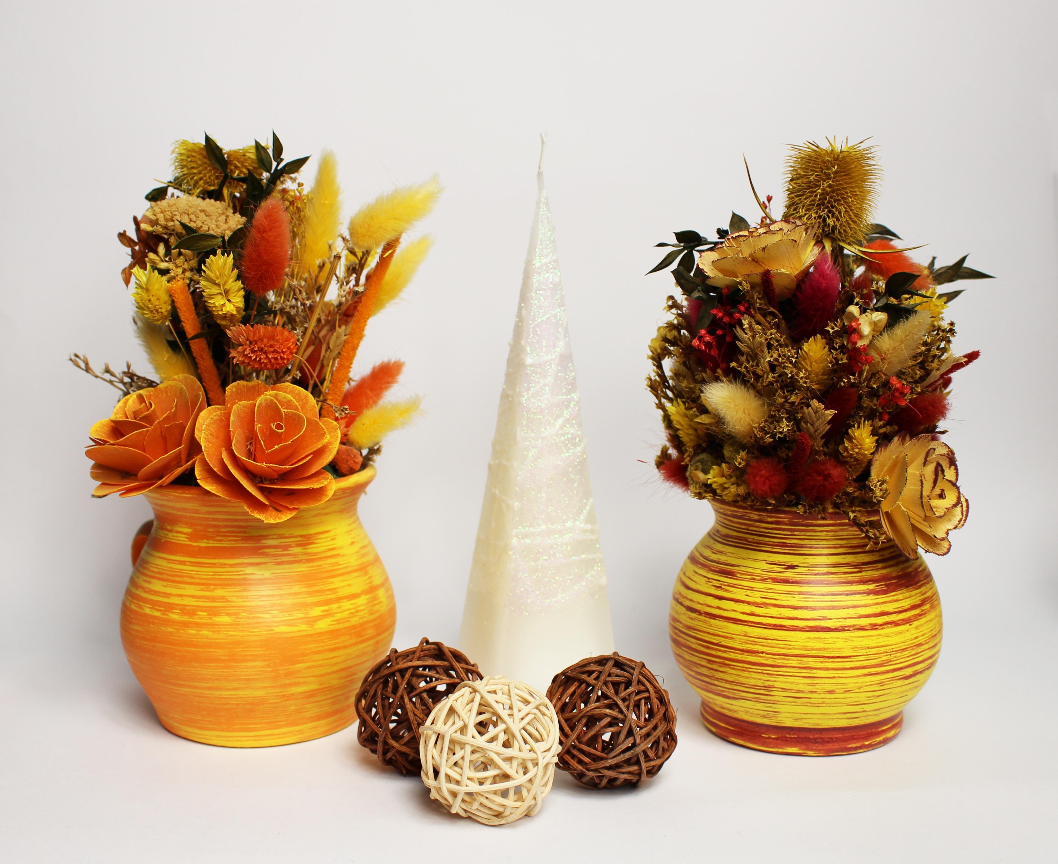 Images Gratuites Plante Vase Produire Jaune Bougie Decoration
