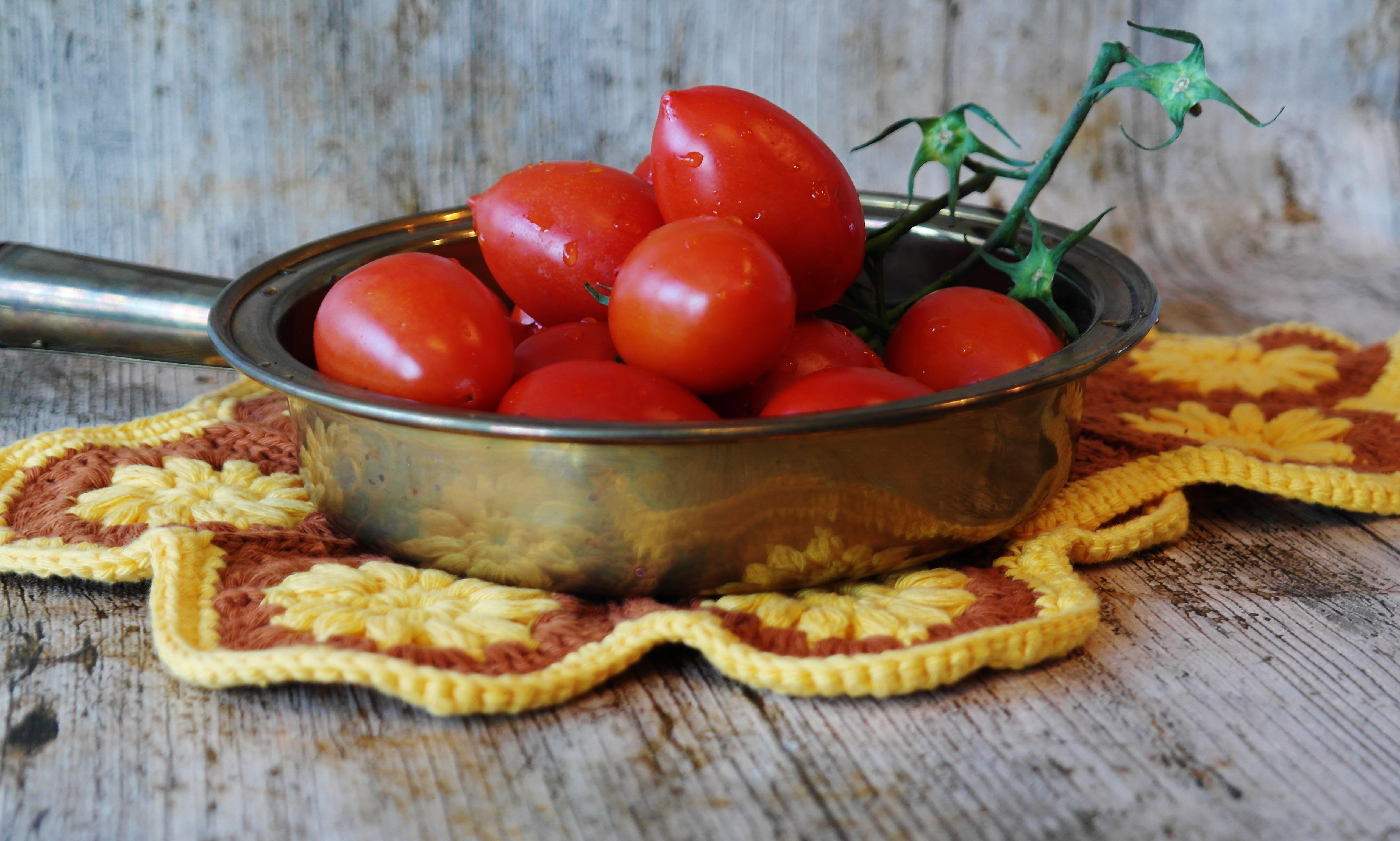 Menanam Buah Makan Hidangan Makanan Salad Merah Menghasilkan Sayur Mayur Dapur Sehat Masakan Tomat