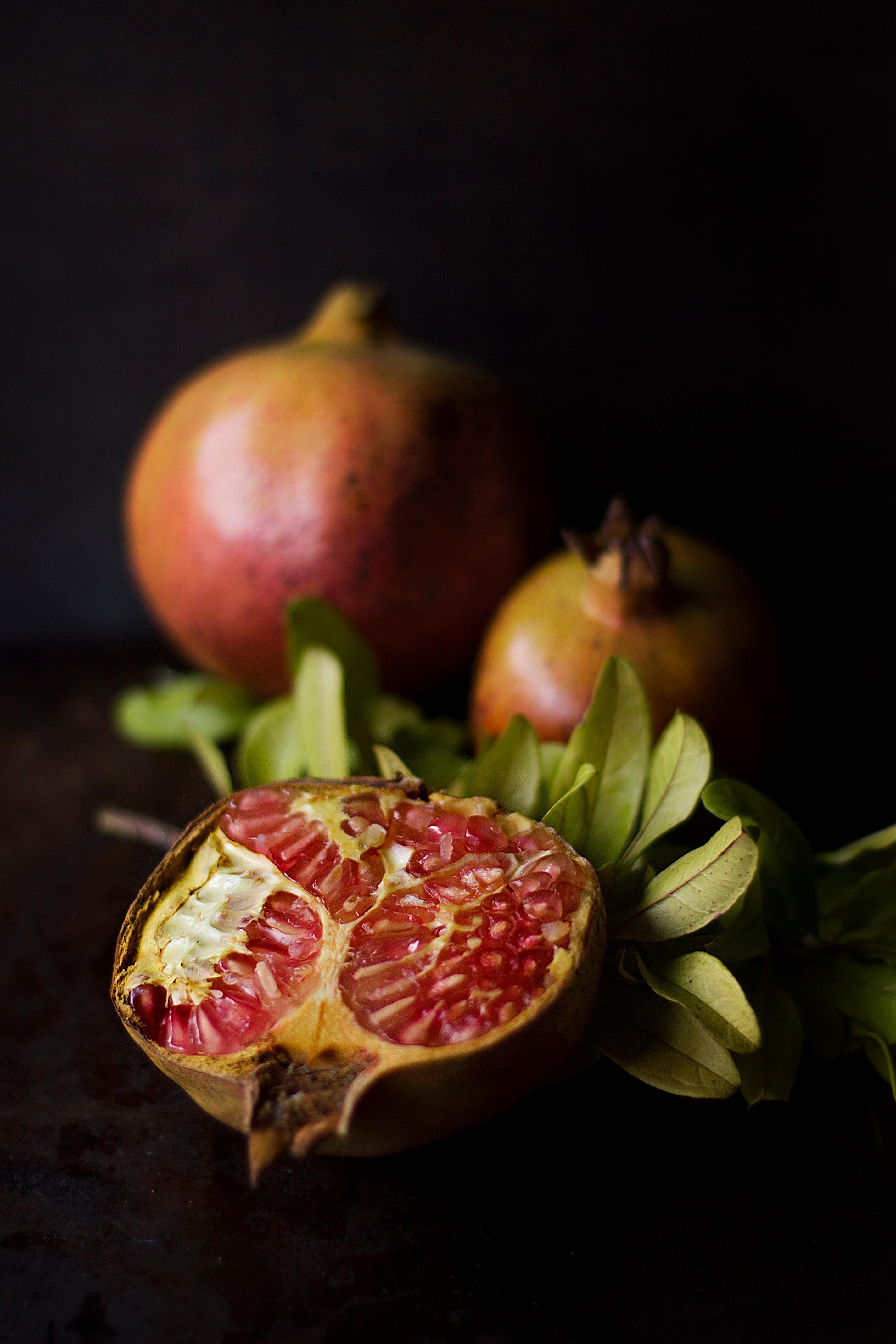 Fotoğraf Meyve çiçek Gıda üretmek Boyama Nar Makro