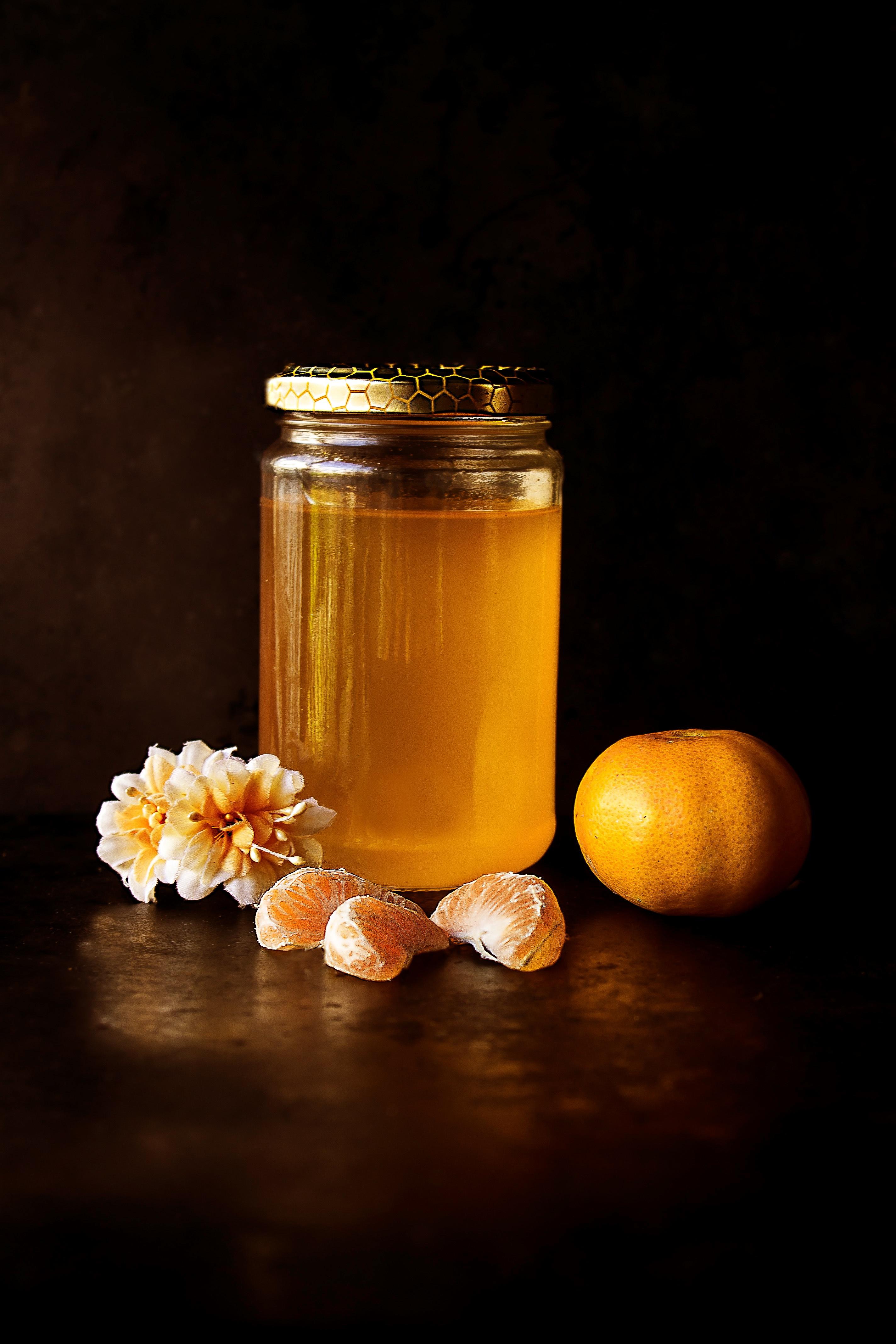 Plant Fruit Flower Honey Jar Orange Food Produce Yellow Candle Lighting Still Life Painting Macro Photography