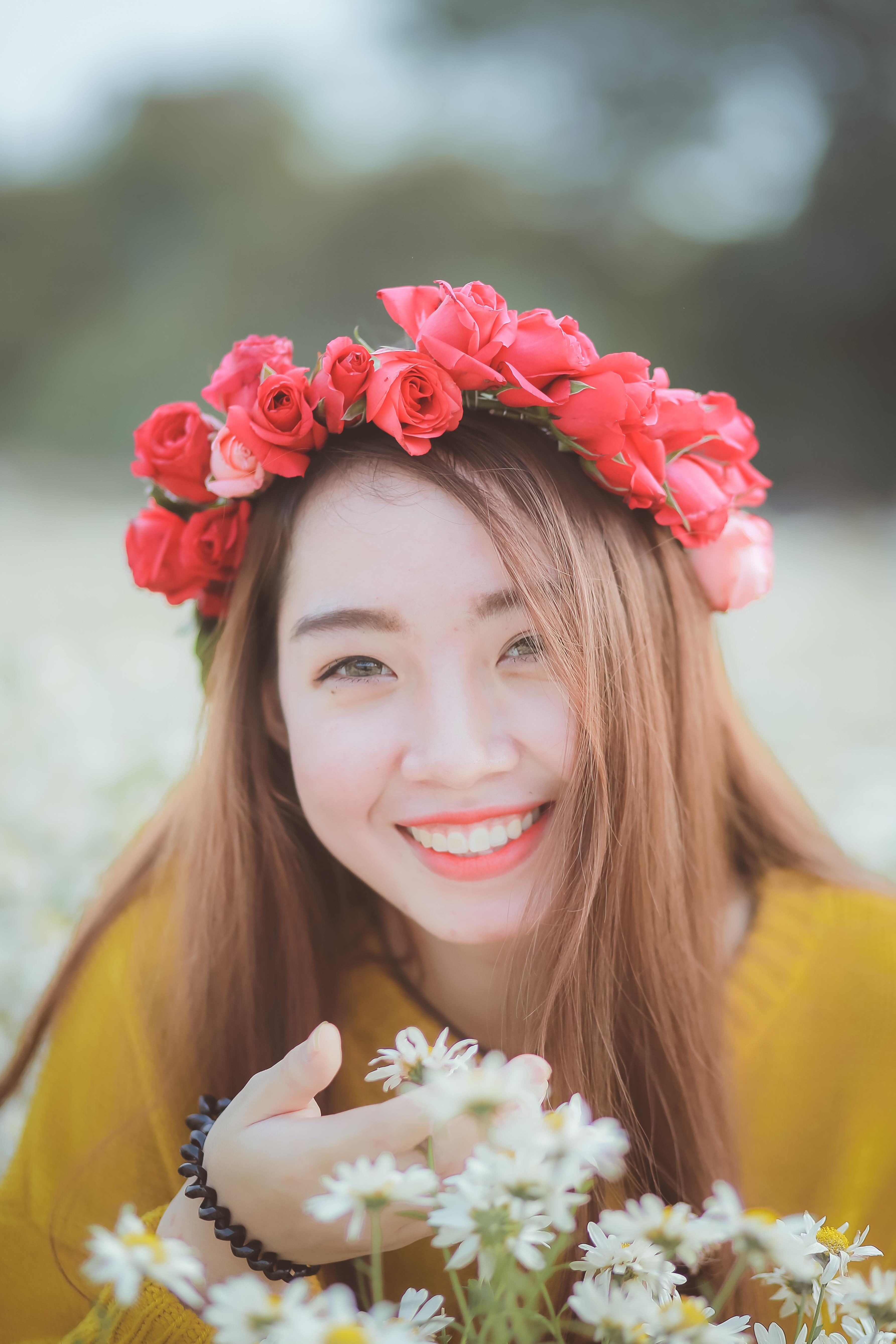 Free Images Plant Girl Woman Petal Daisy Portrait Spring