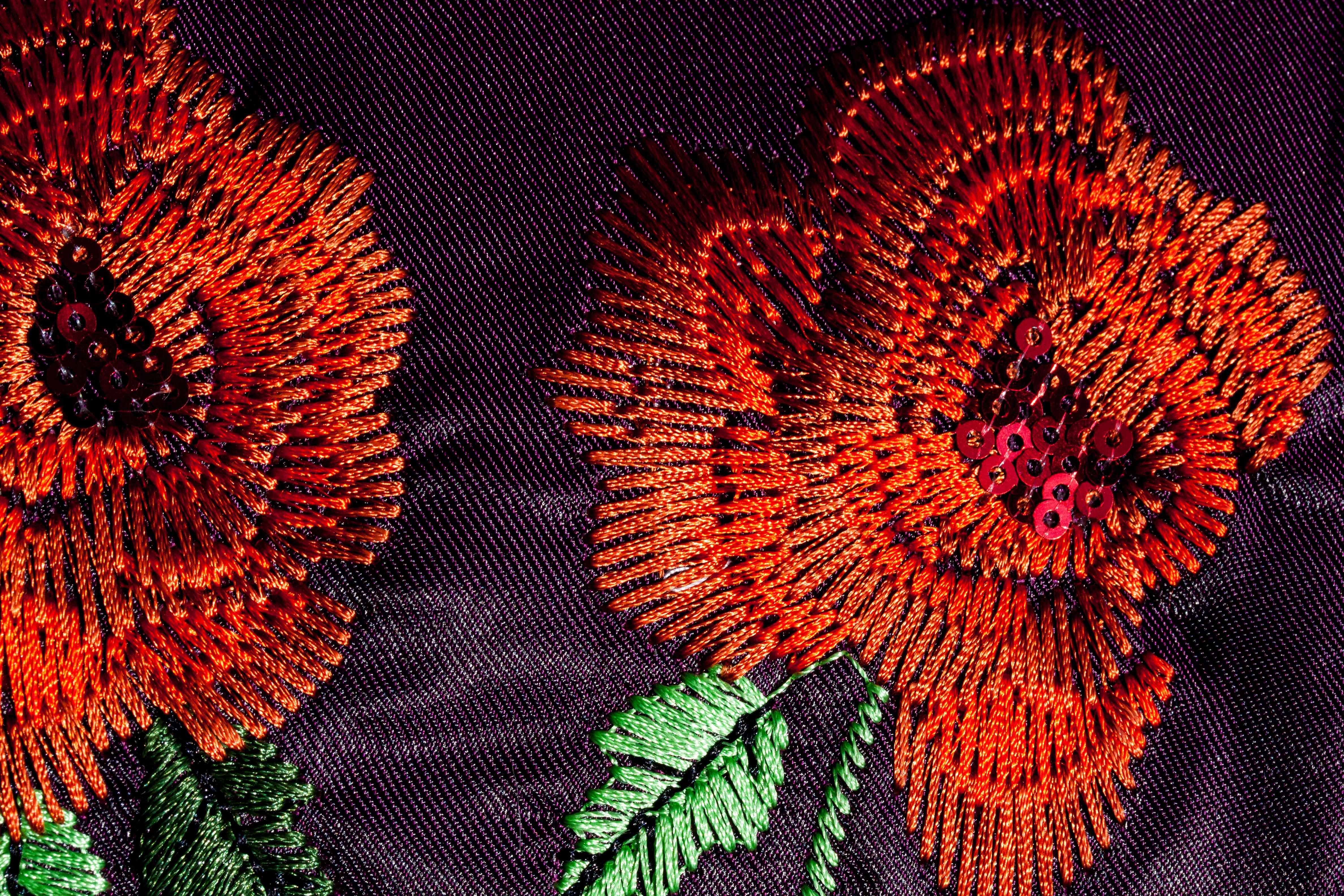 Fotos gratis : hoja, flor, naranja, patrón, rojo, color, flora ...