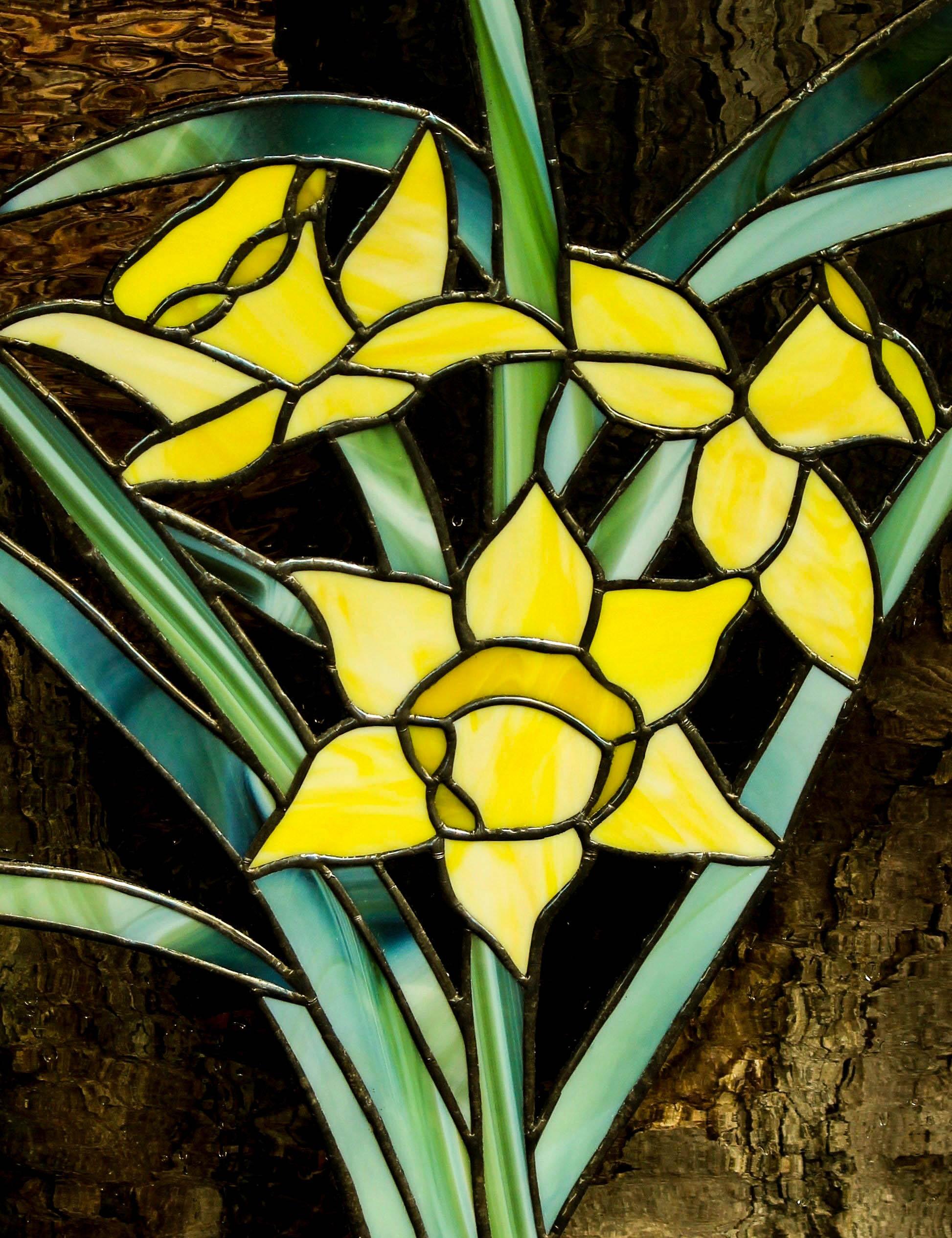 Images gratuites feuille fleur fen tre d coration for Decoration fenetre vitrail