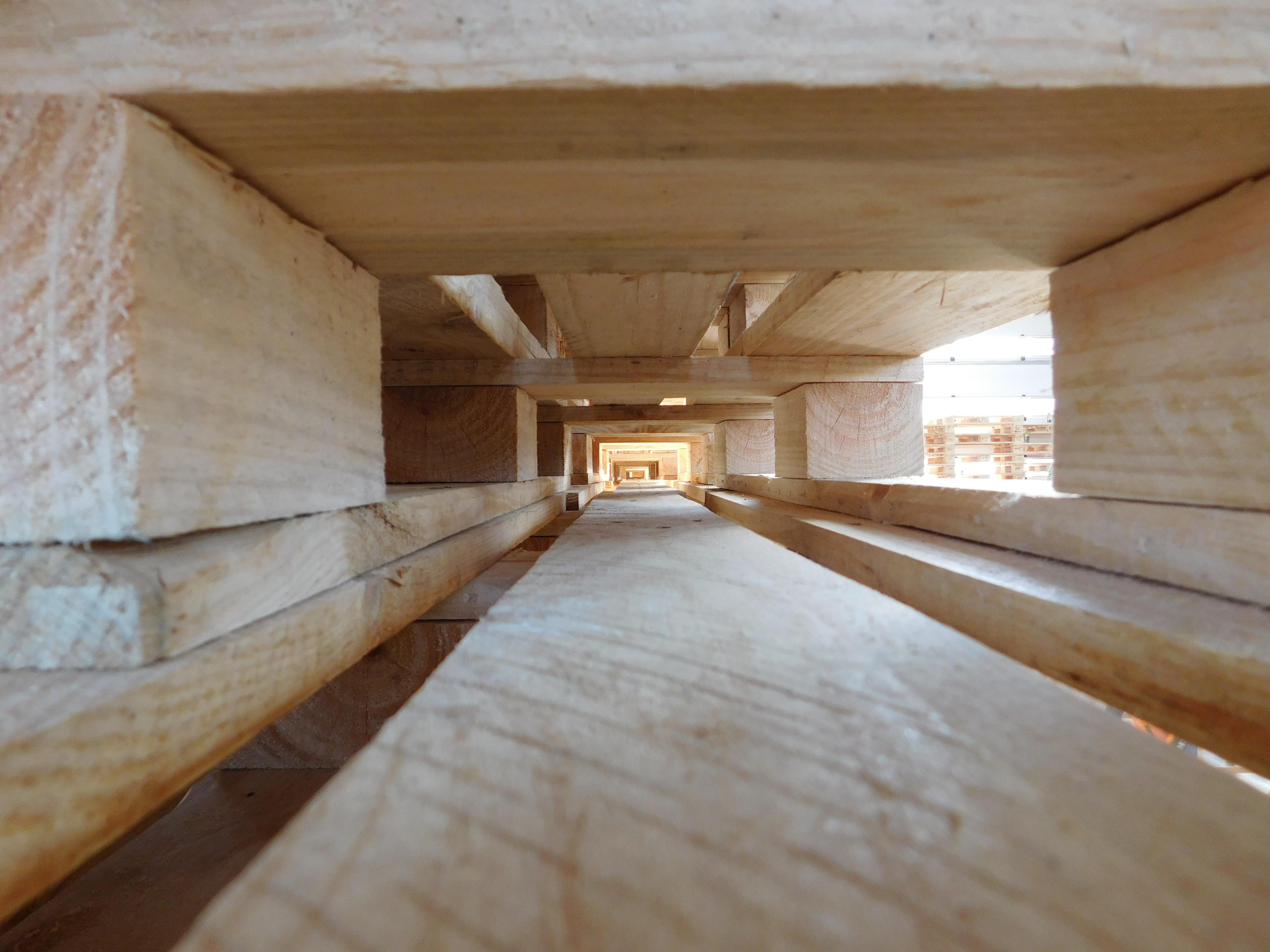Gambar Menanam Lantai Terowongan Balok Plafon Alam Milik