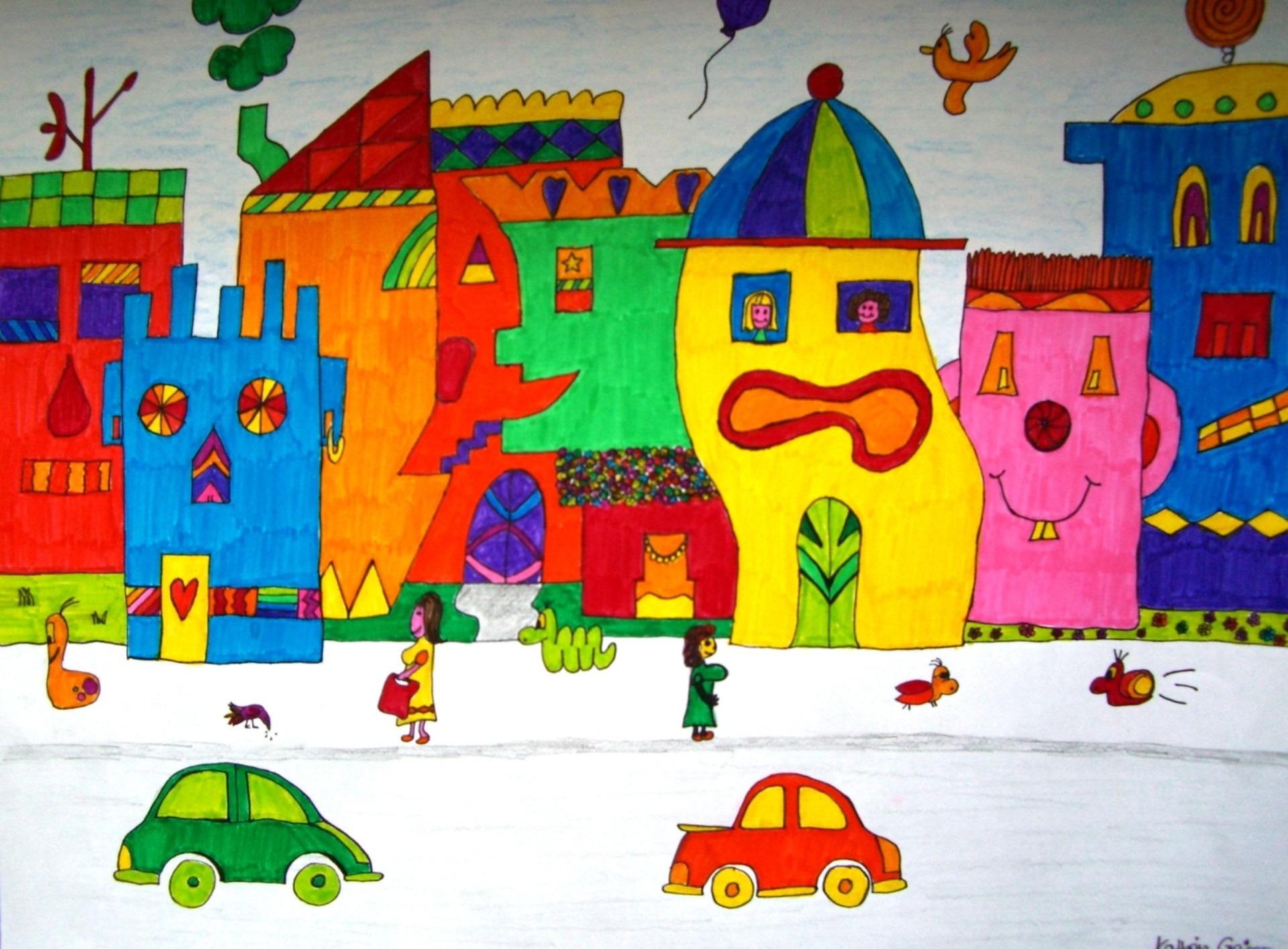 Gambar Ilustrasi Taman Bermain Gambar Bermain Warna Warna Warni Mainan Ilustrasi Lukisan