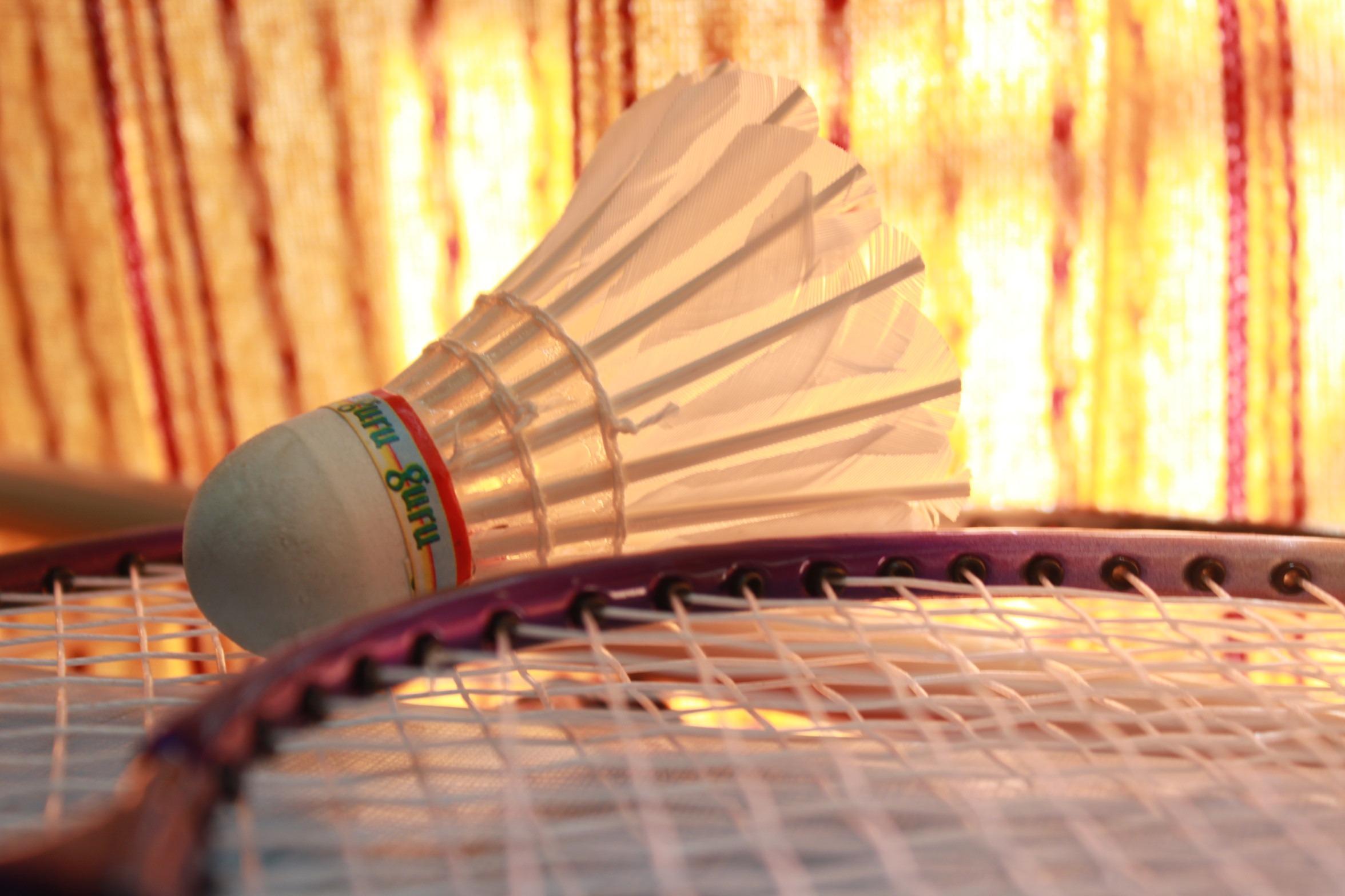 spela Utrustning Färg fritid fjäder musik instrument aktivitet närbild  sporter boll match badminton racket racket fjäderboll bf7d18a87230d