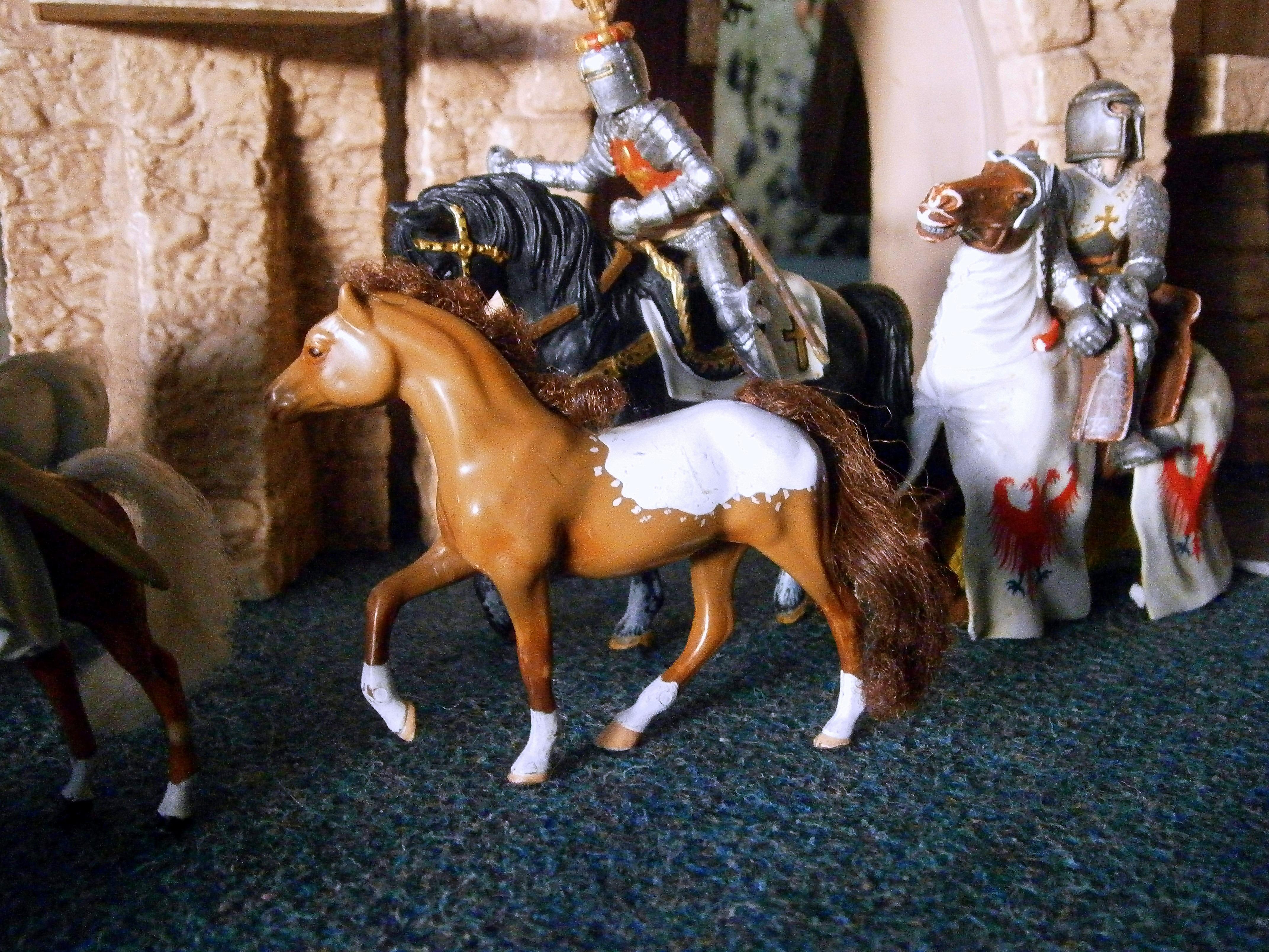 fotos gratis jugar caballo castillo nio arreglo lucha nios juguetes jardn de infancia construir escena edades medias combinar regulacin