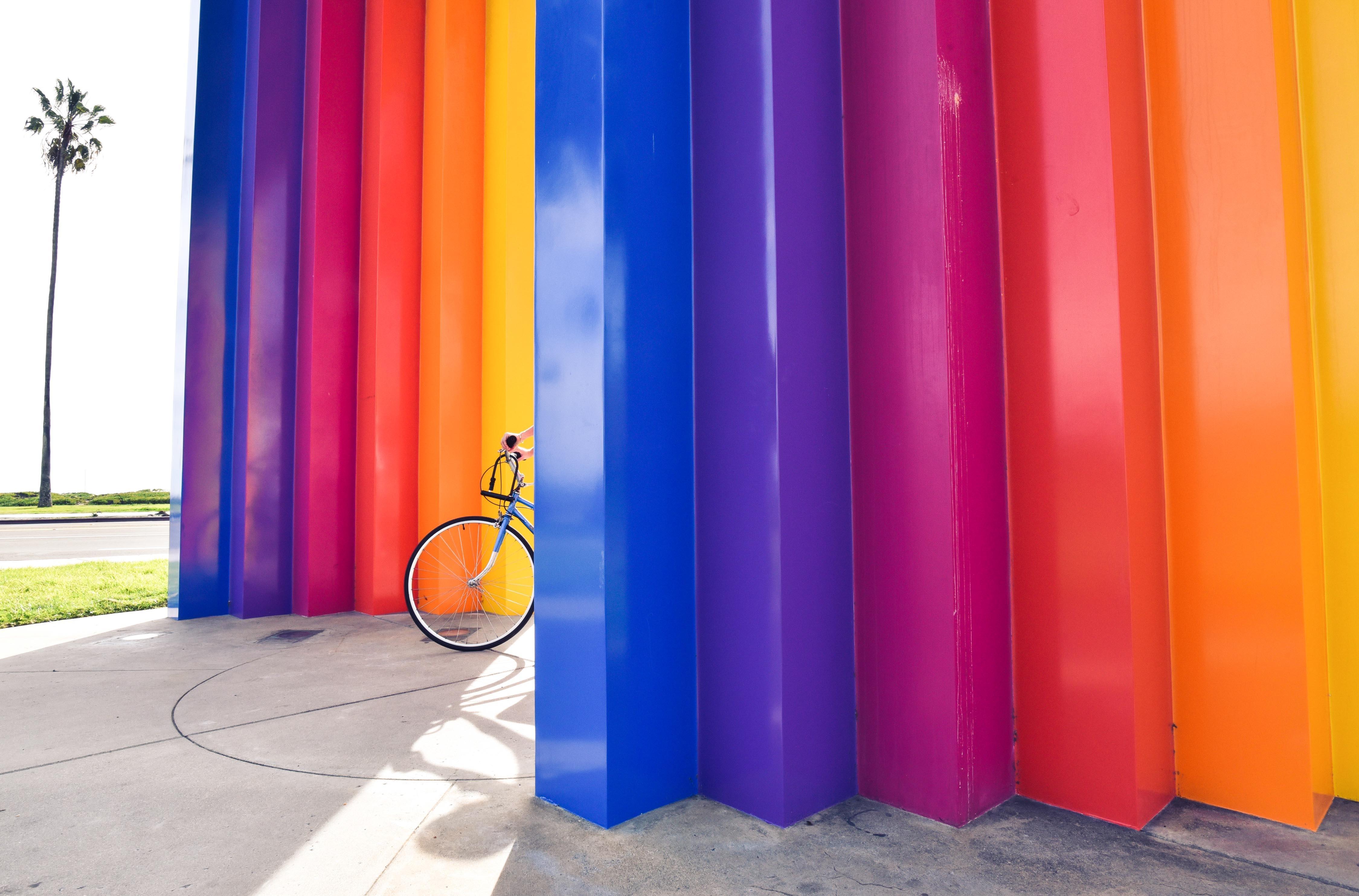 Free Images Play Purple Bicycle Bike Wall Orange