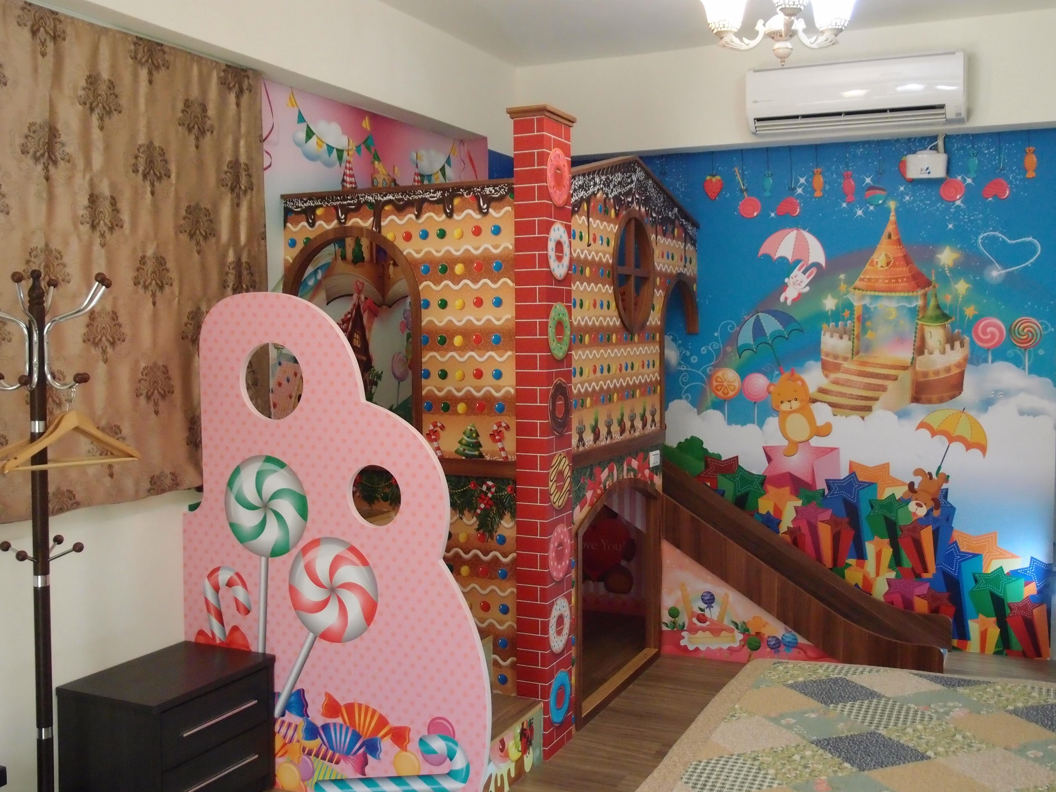 Gambar bermain kamar desain interior lukisan dinding for Mural untuk kanak kanak