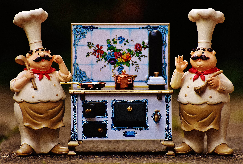 Gambar Bermain Manis Imut Pot Patung Makanan Memasak Dapur