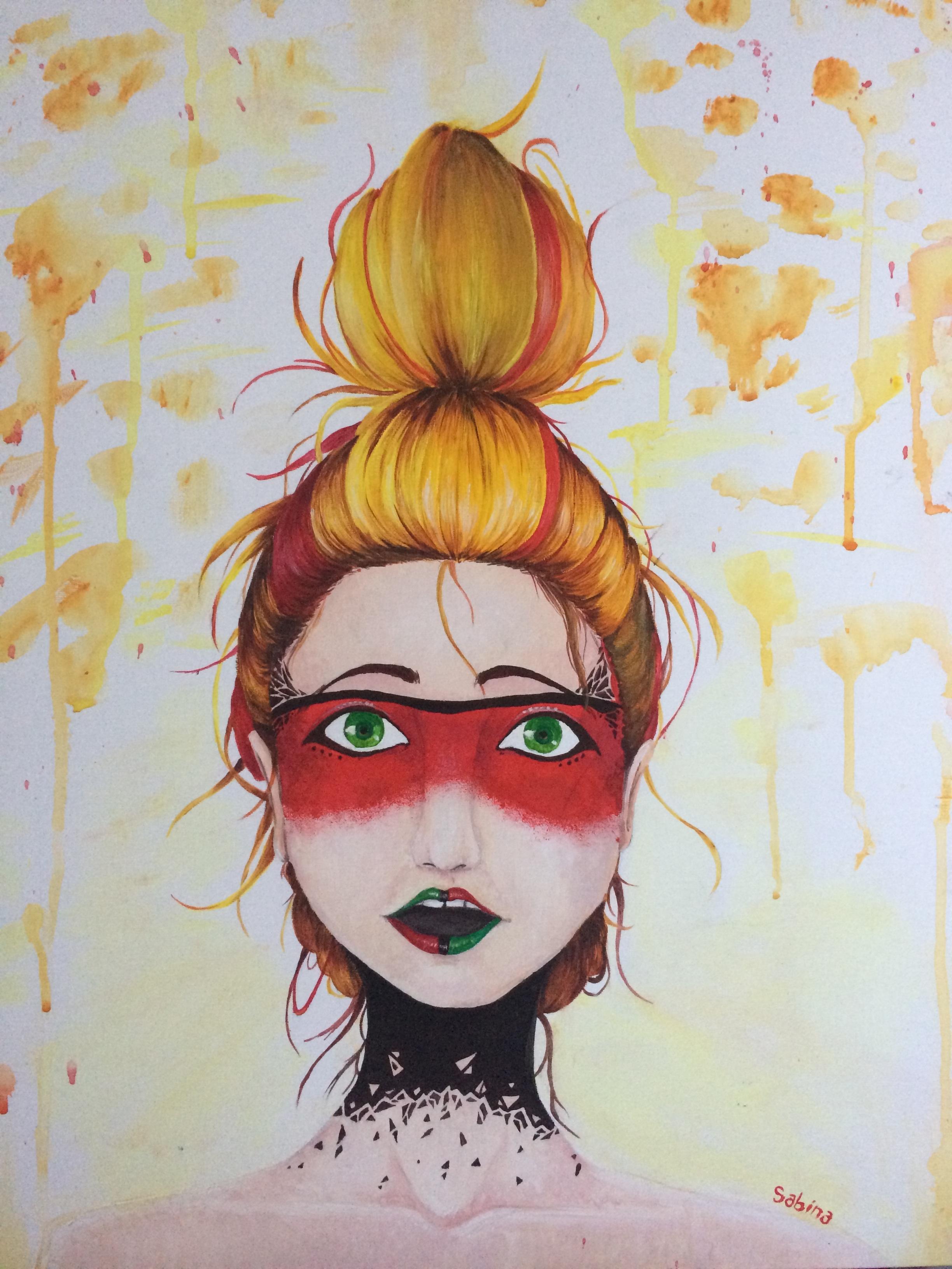 Fotoğraf Portre çocuk Boyama Maske Eskiz çizim Illüstrasyon