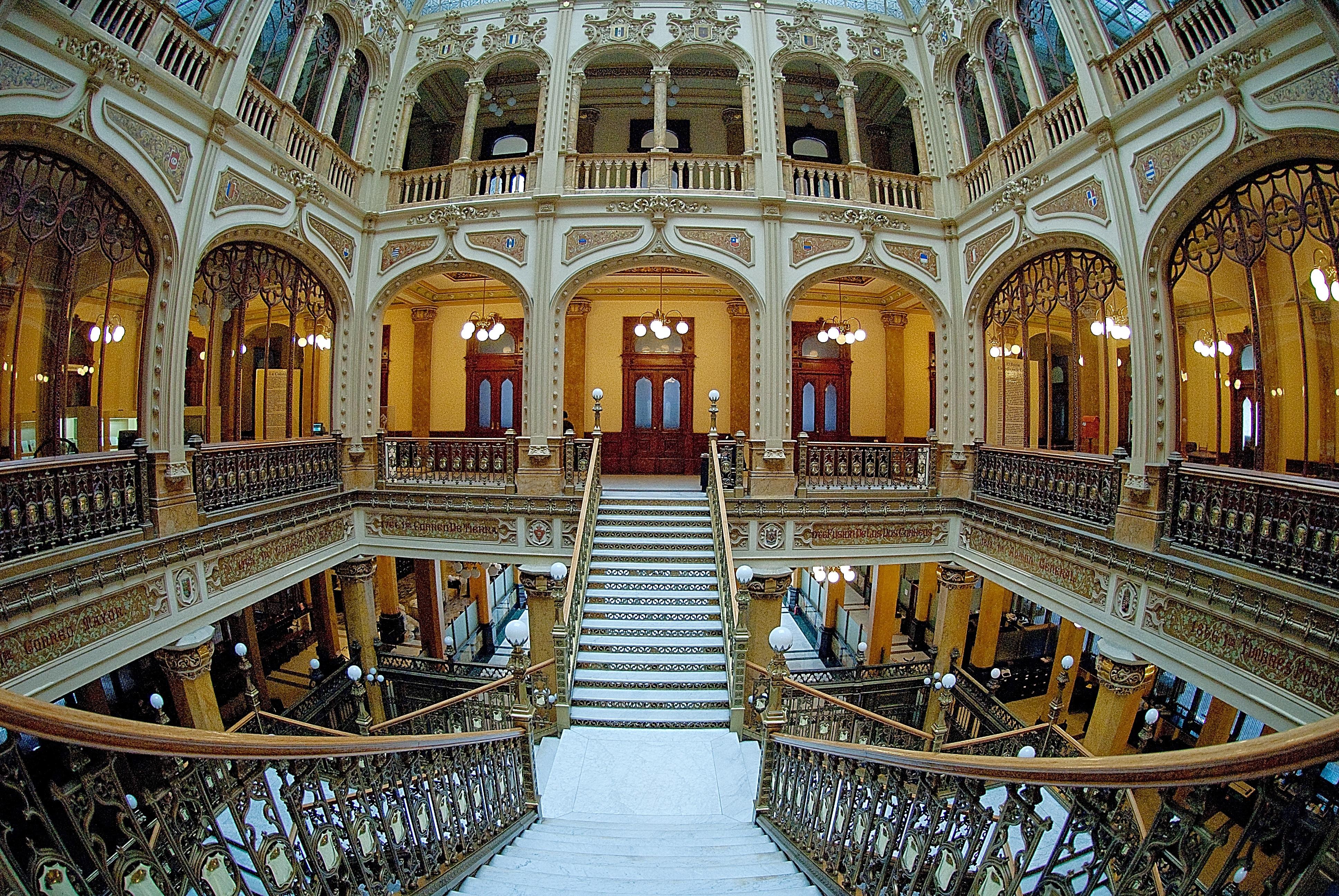 Fotos gratis : enviar, piso, edificio, palacio, claraboya, interior ...