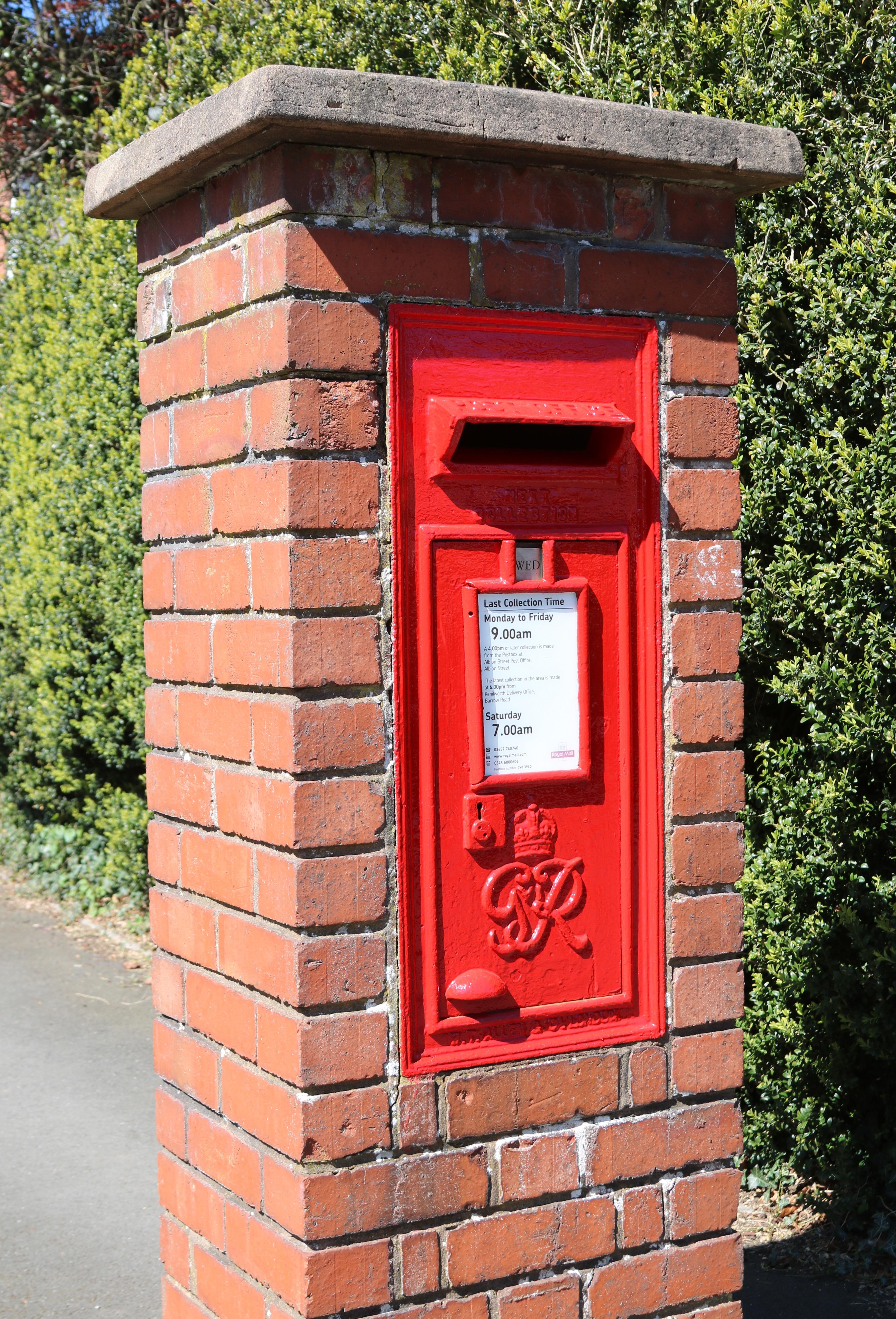 Kostenlose Foto Post Alt Rot Brief Box Ziegel Briefkasten