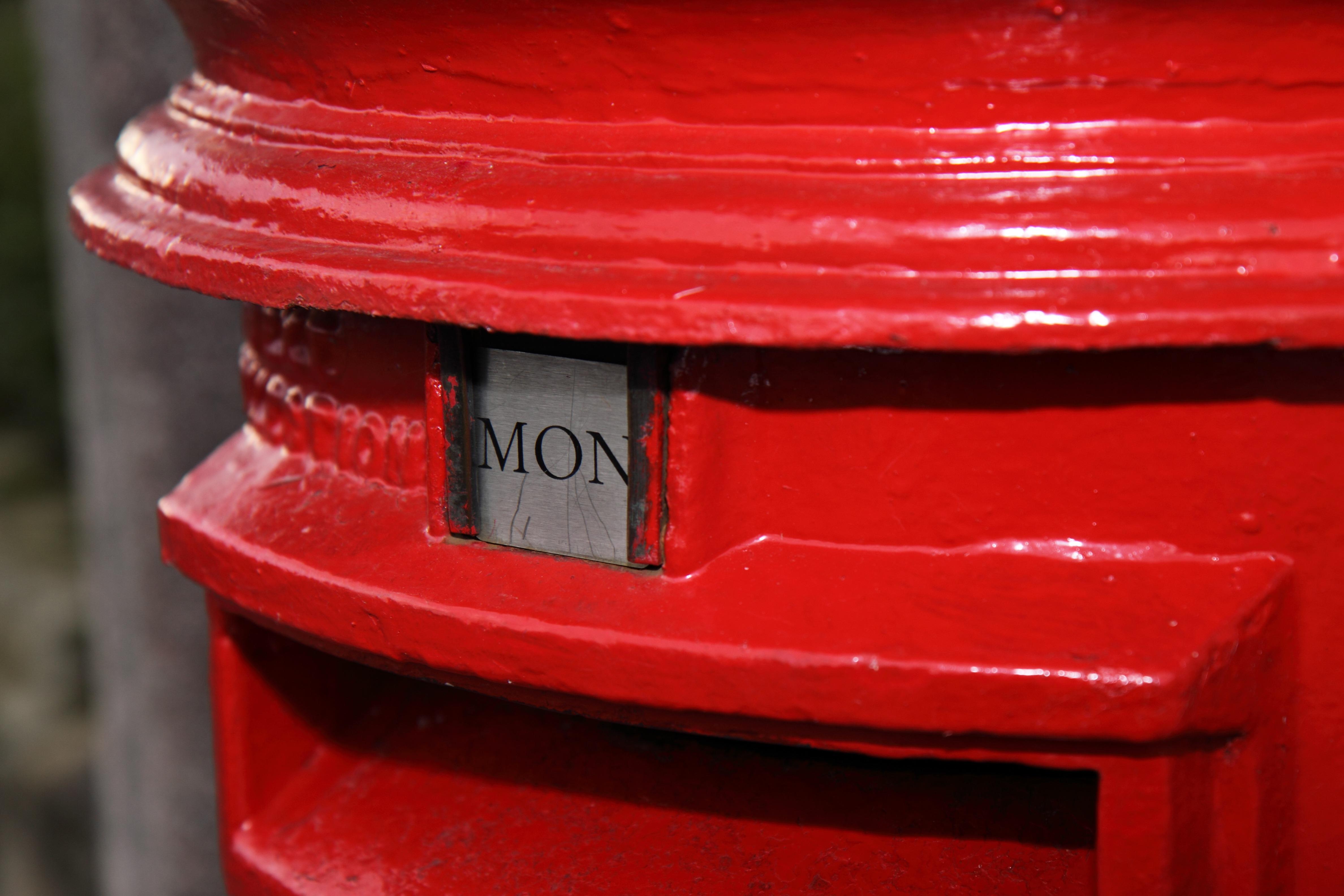 Kostenlose Foto Post Rad Nummer Rot Brief Farbe Rosa
