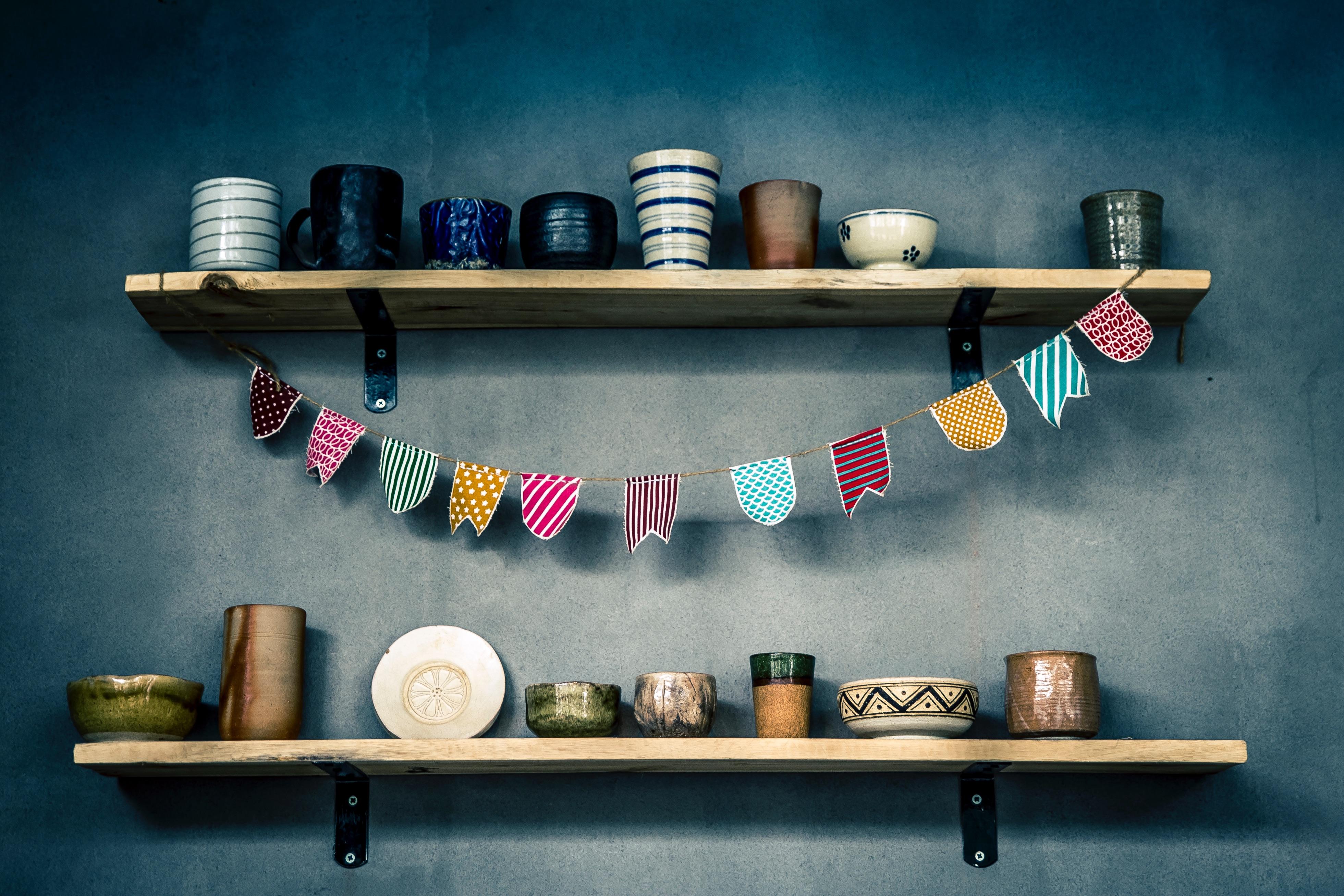 Super Kostenlose foto : Pot, Tasse, Keramik, Regal, Möbel, Becher &JD_78
