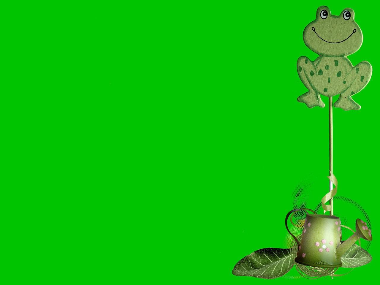 Gambar pot hijau katak amfibi taman ilustrasi hewan