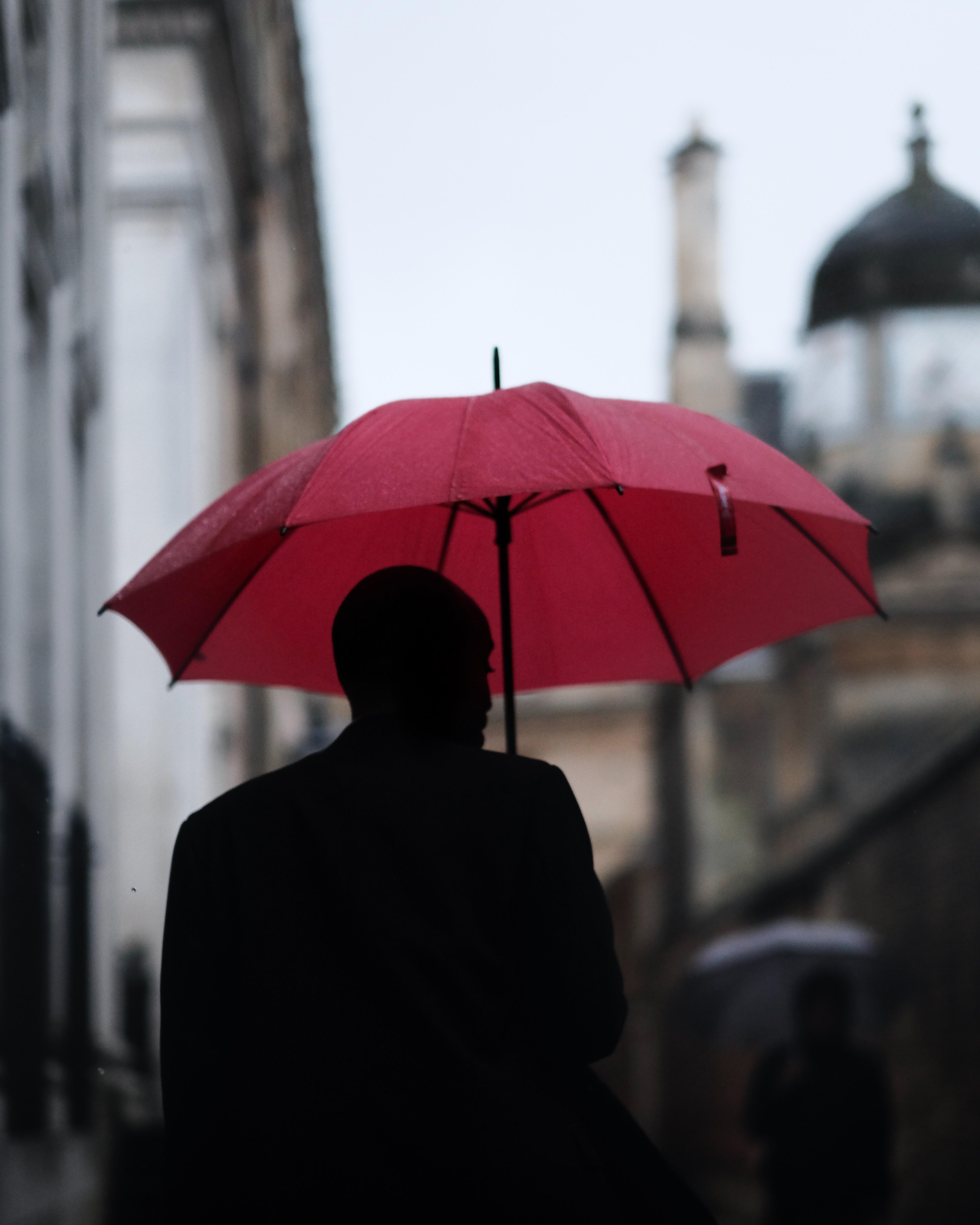 Free Images : rain, red, umbrella, color, fashion ...