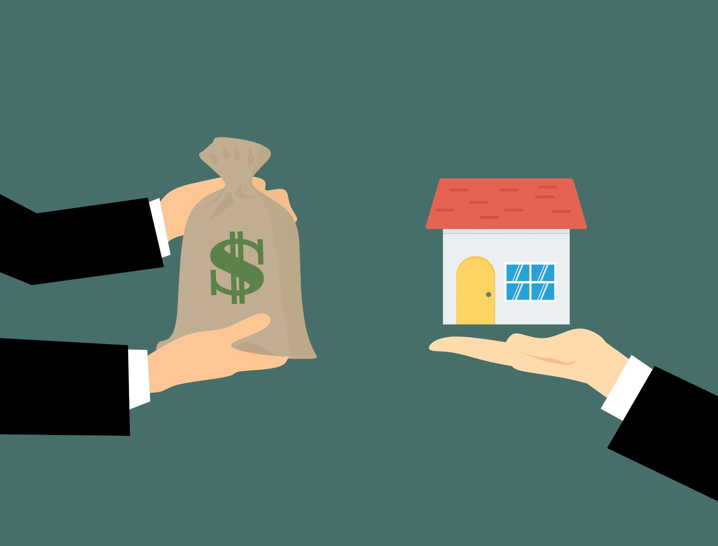 House and Money Bag Image