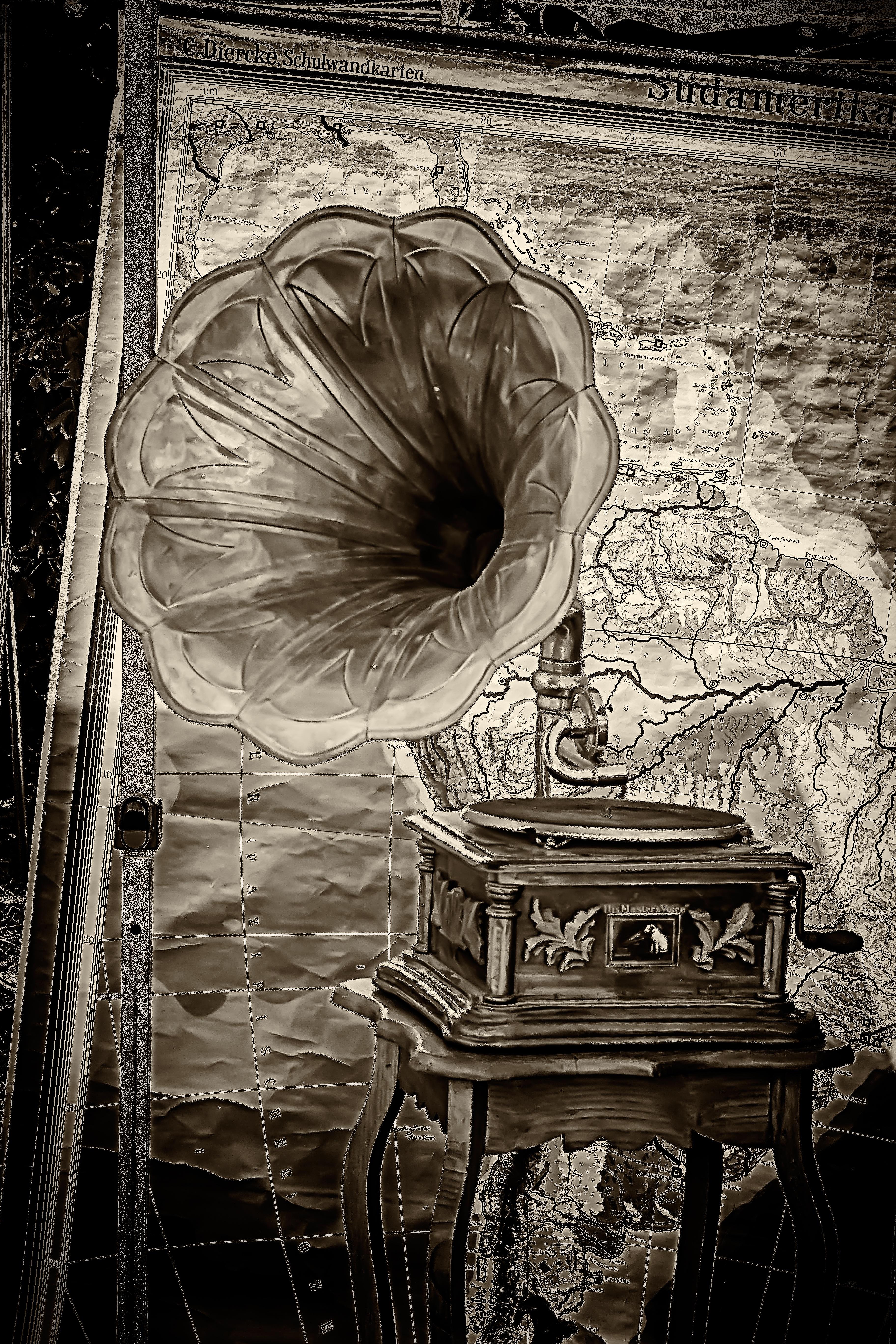 Fotograf Kayit Muzik Siyah Ve Beyaz Eski Nostalji Onemsiz
