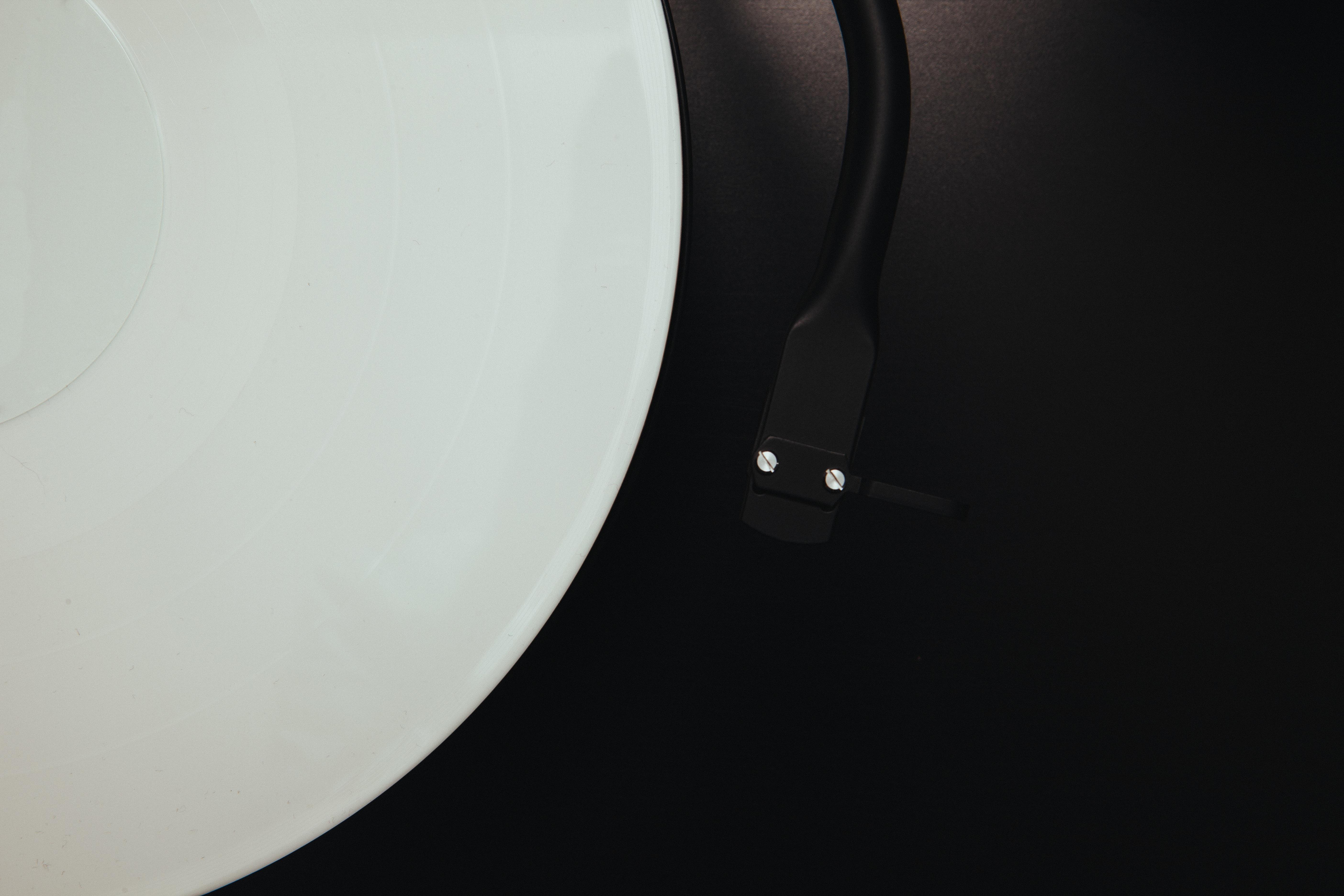 Record Music Needle Vinyl Turntable Light White Ceiling Gadget Lamp Black  Lighting Circle Dj Album Audio