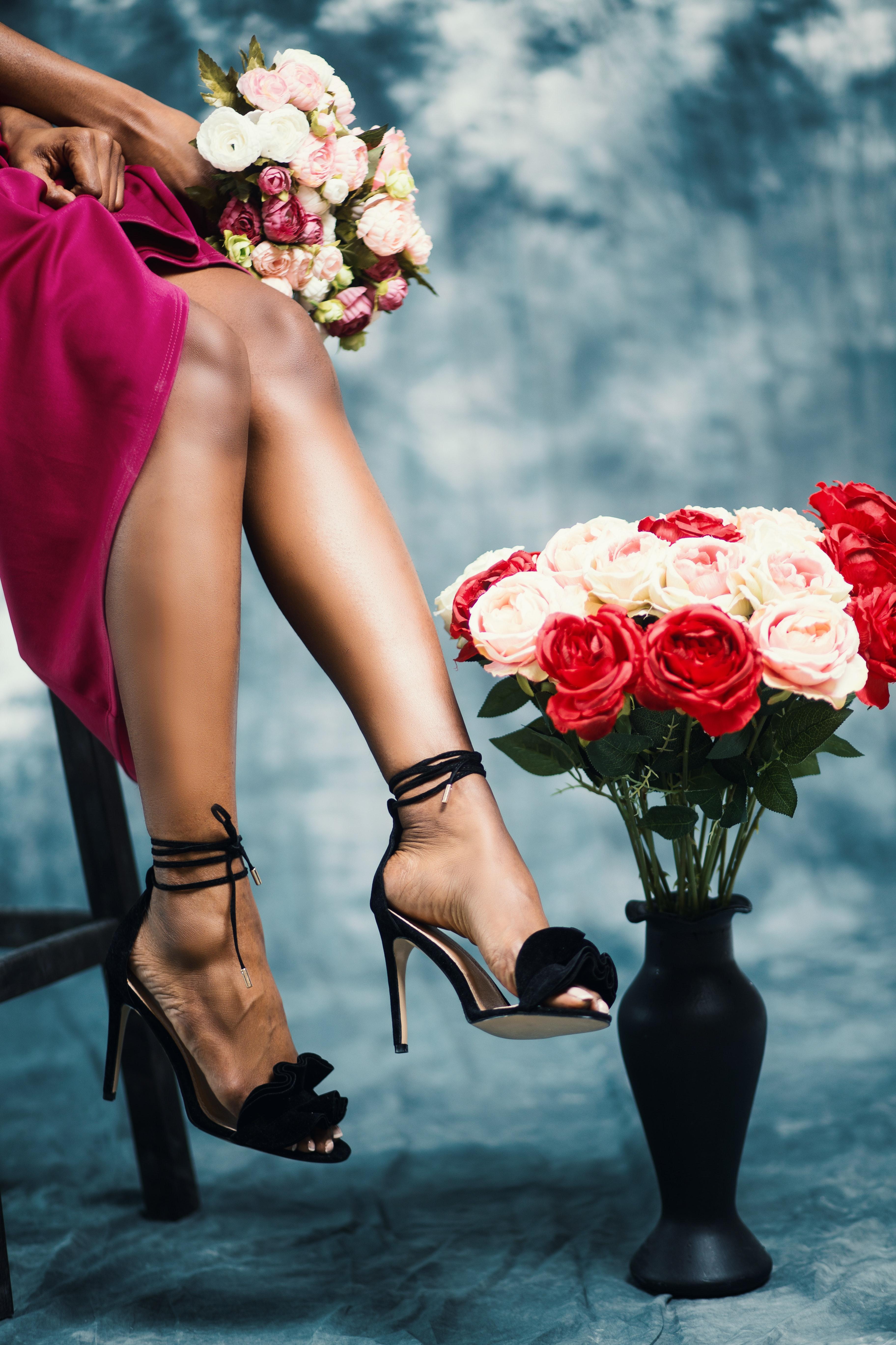 одно картинки женский ноги туфли цветы вас простой цифровой