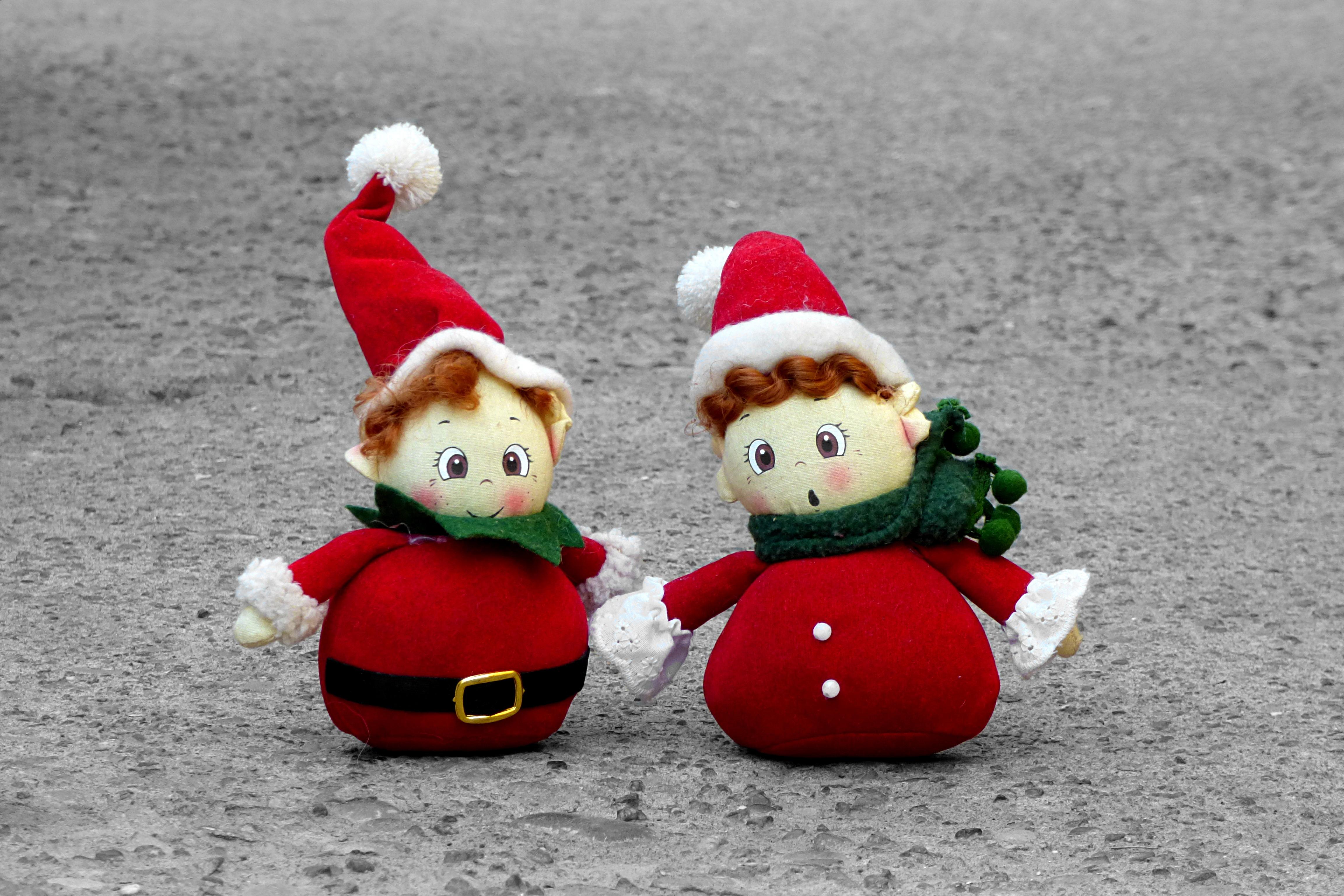 red christmas toy snowman toys santa claus goblins stuffed toy santa claus hat - Stuffed Santa Claus