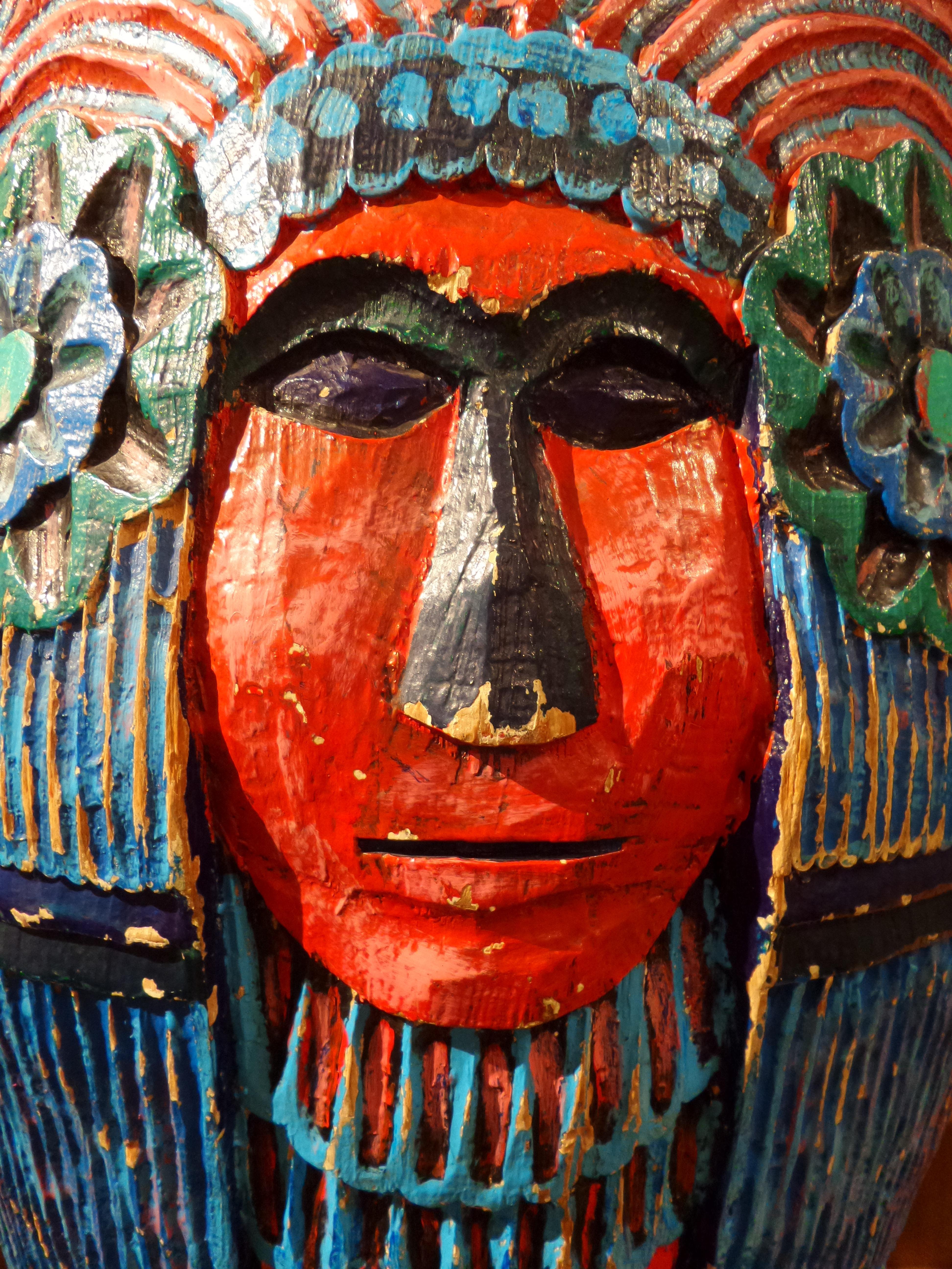 Fotoğraf Kırmızı Renk Giyim Renkli Boyama Maske Meksika