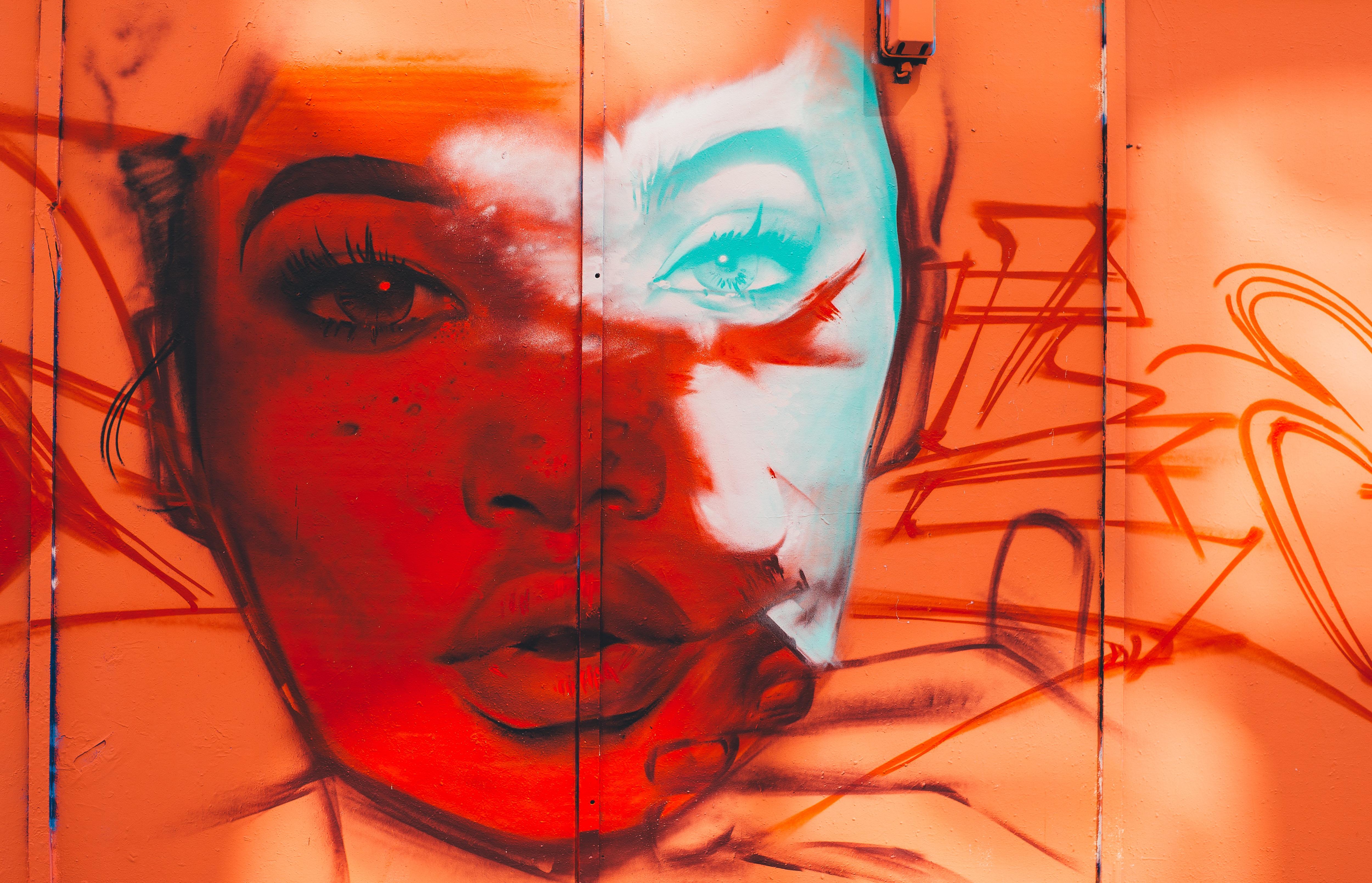 Images Gratuites : rouge, Couleur, La peinture, corps humain, visage, illustration, tête, organe ...