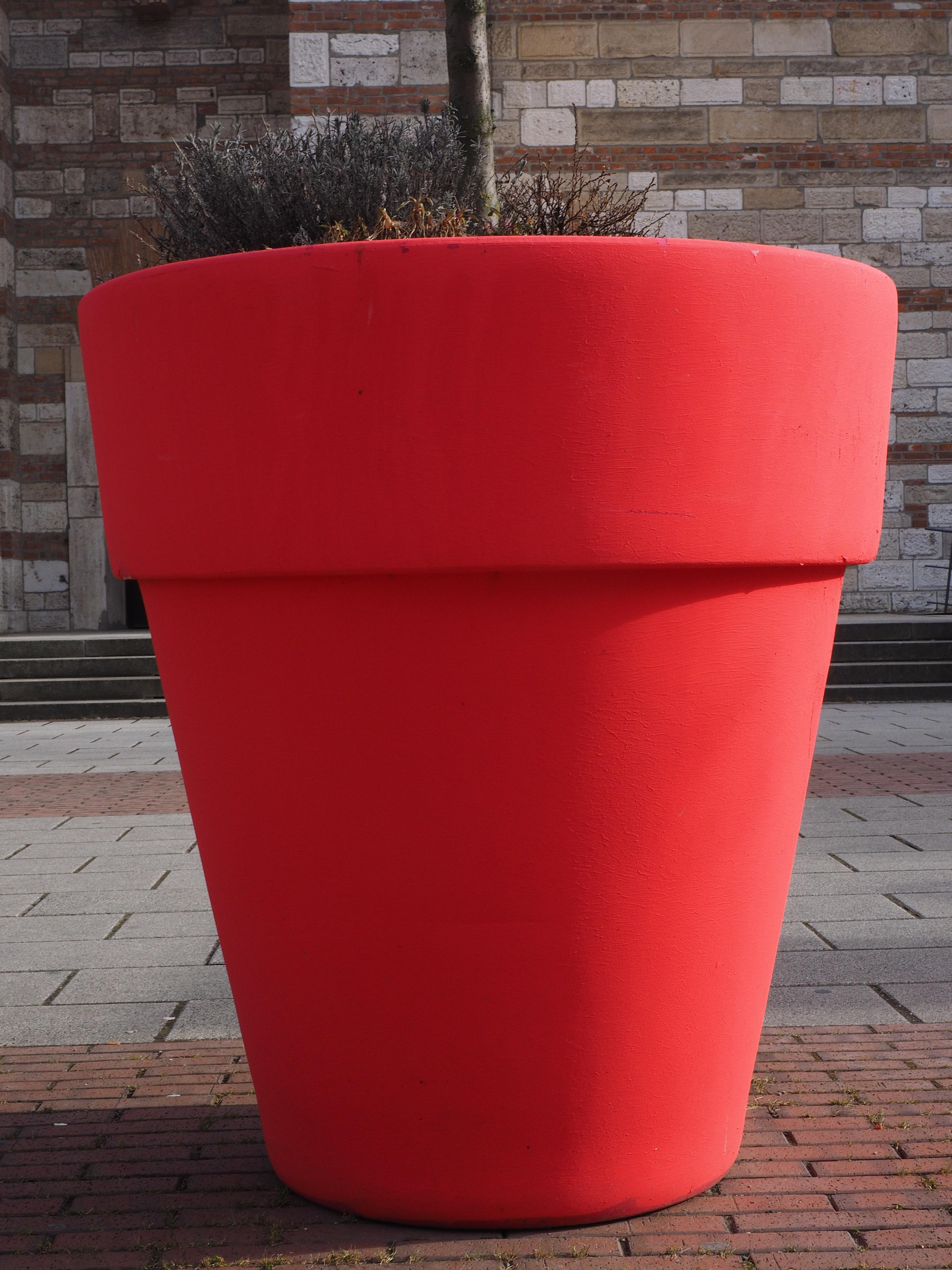 Pot Plastique Grande Taille images gratuites : rouge, meubles, pot de fleur, forme