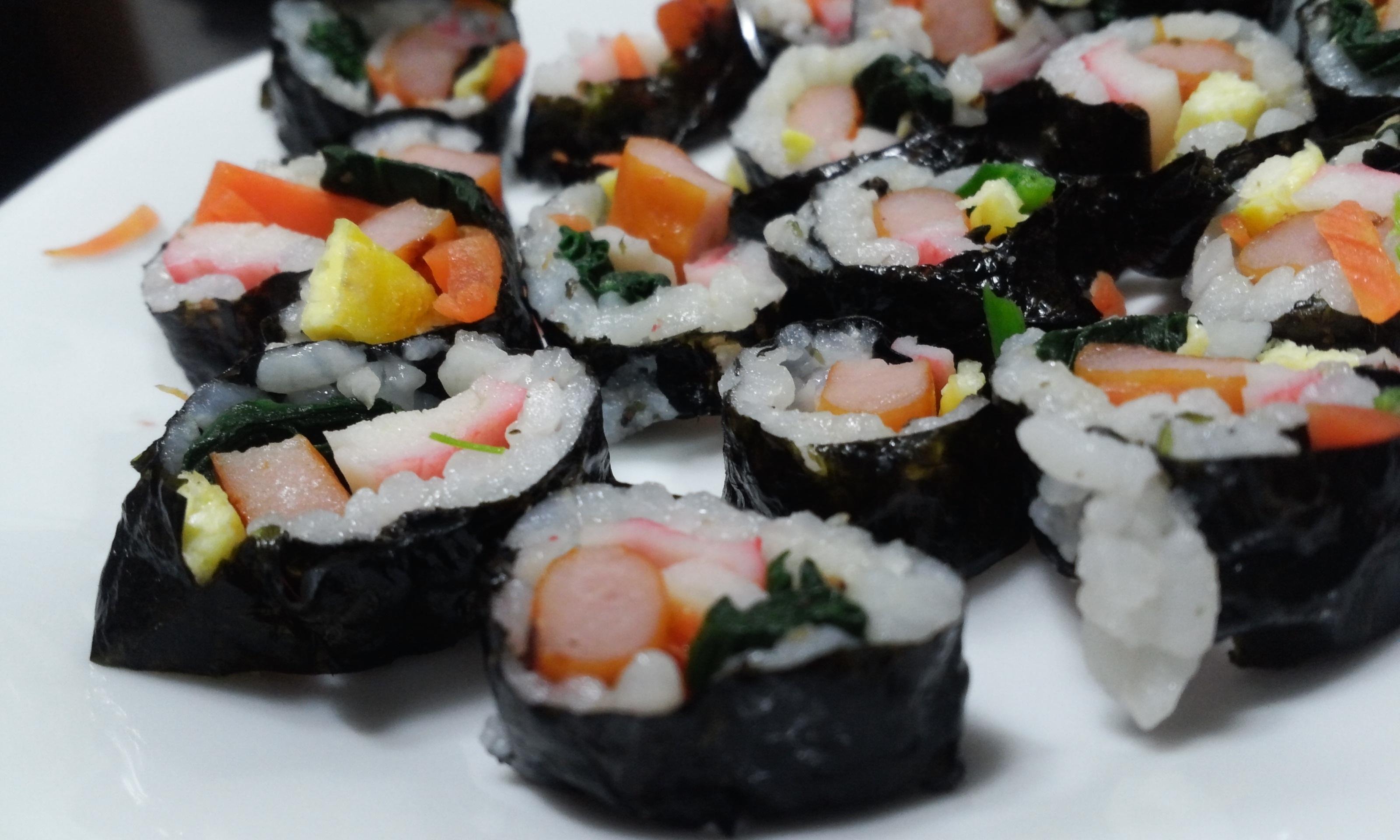 Gambar Restoran Rumput Laut Masakan Makanan Asia Sushi