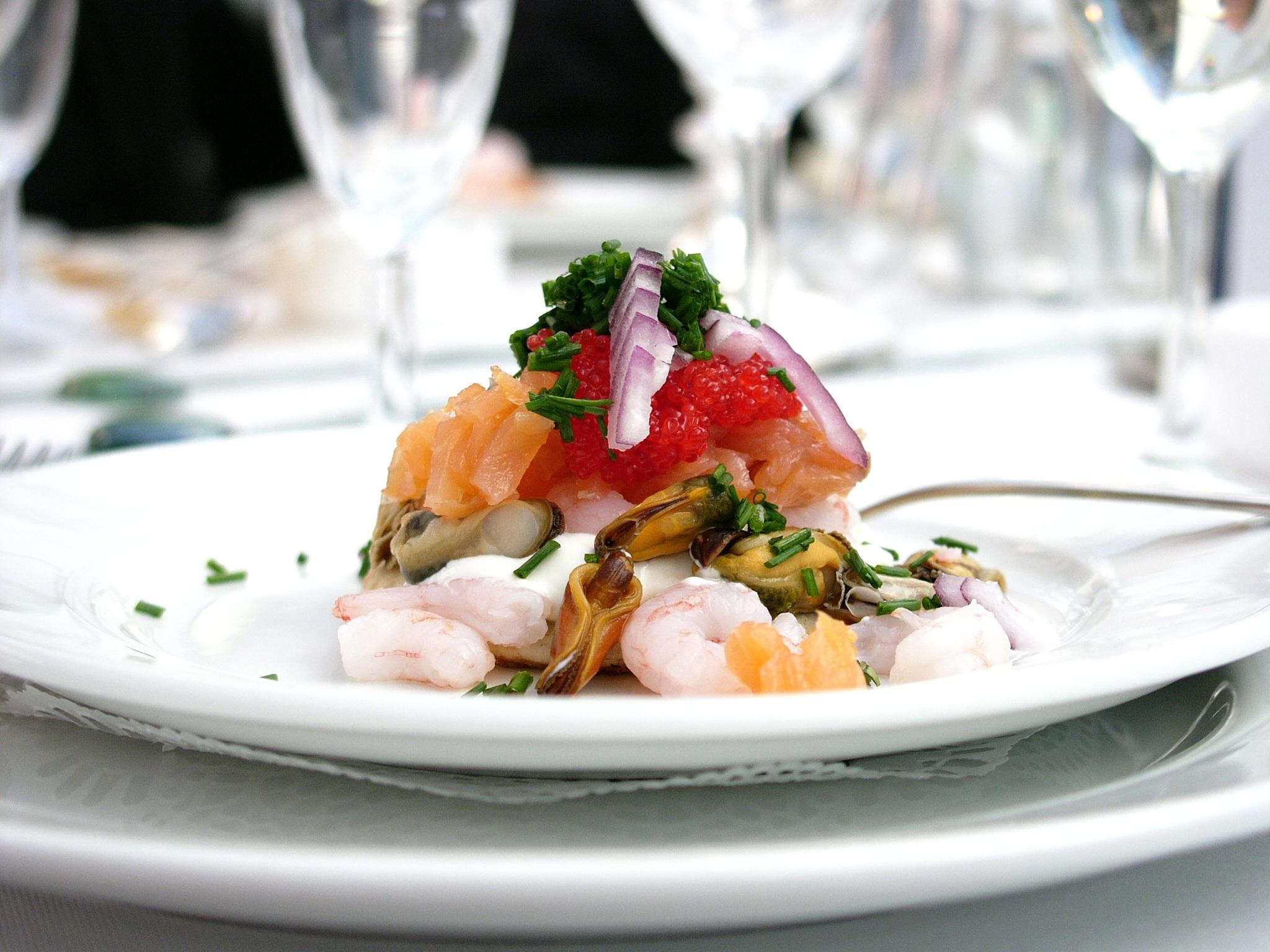 Images gratuites restaurant plat repas aliments for Hors d oeuvre avec saumon fume