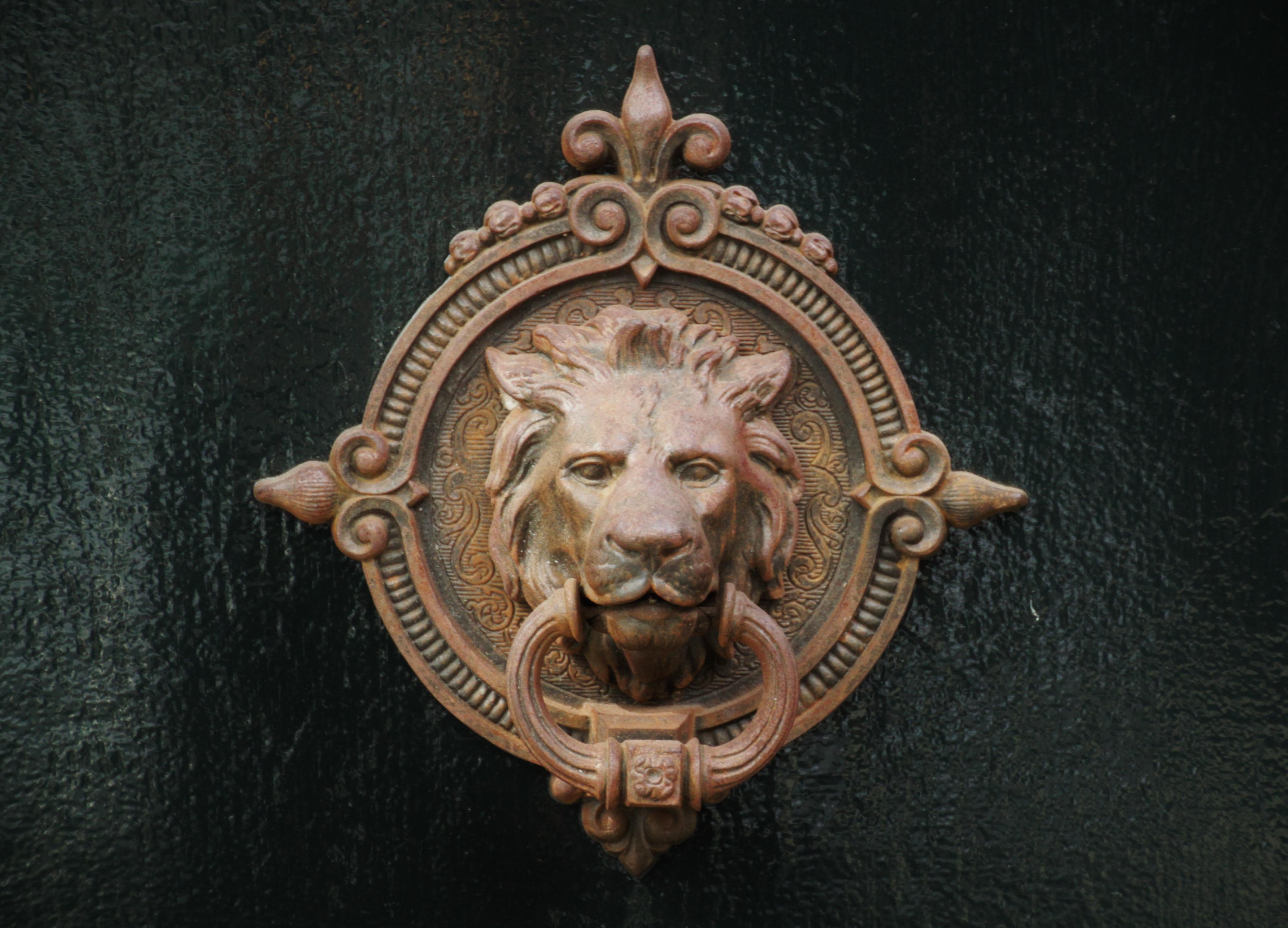 Free Images Old Statue Deco Front Door Figure Brass