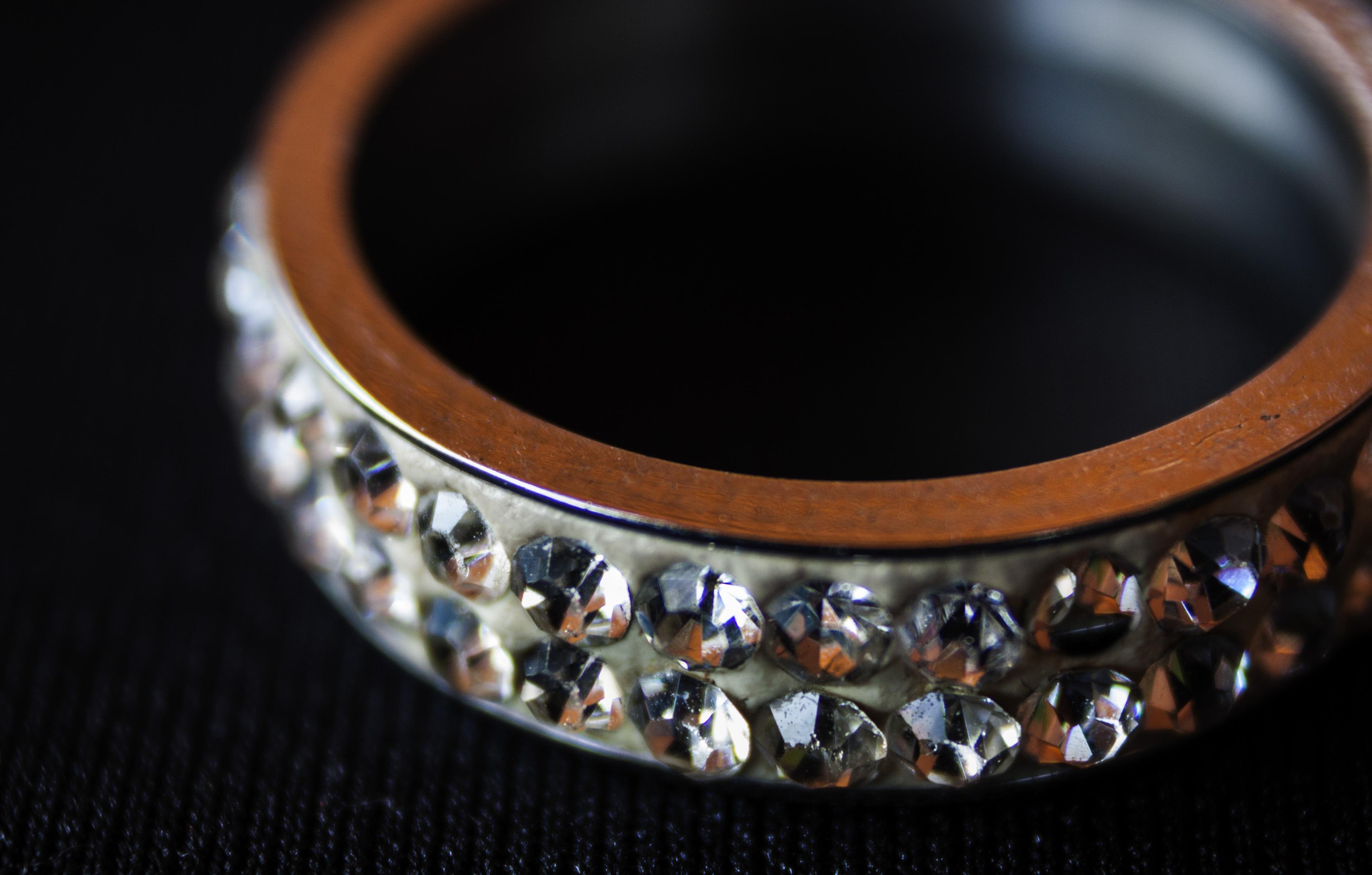 Ring Stone Metal Commitment Bangle Bracelet Close Up Jewellery Jewel Cool Image Silver Rings I Diamonds