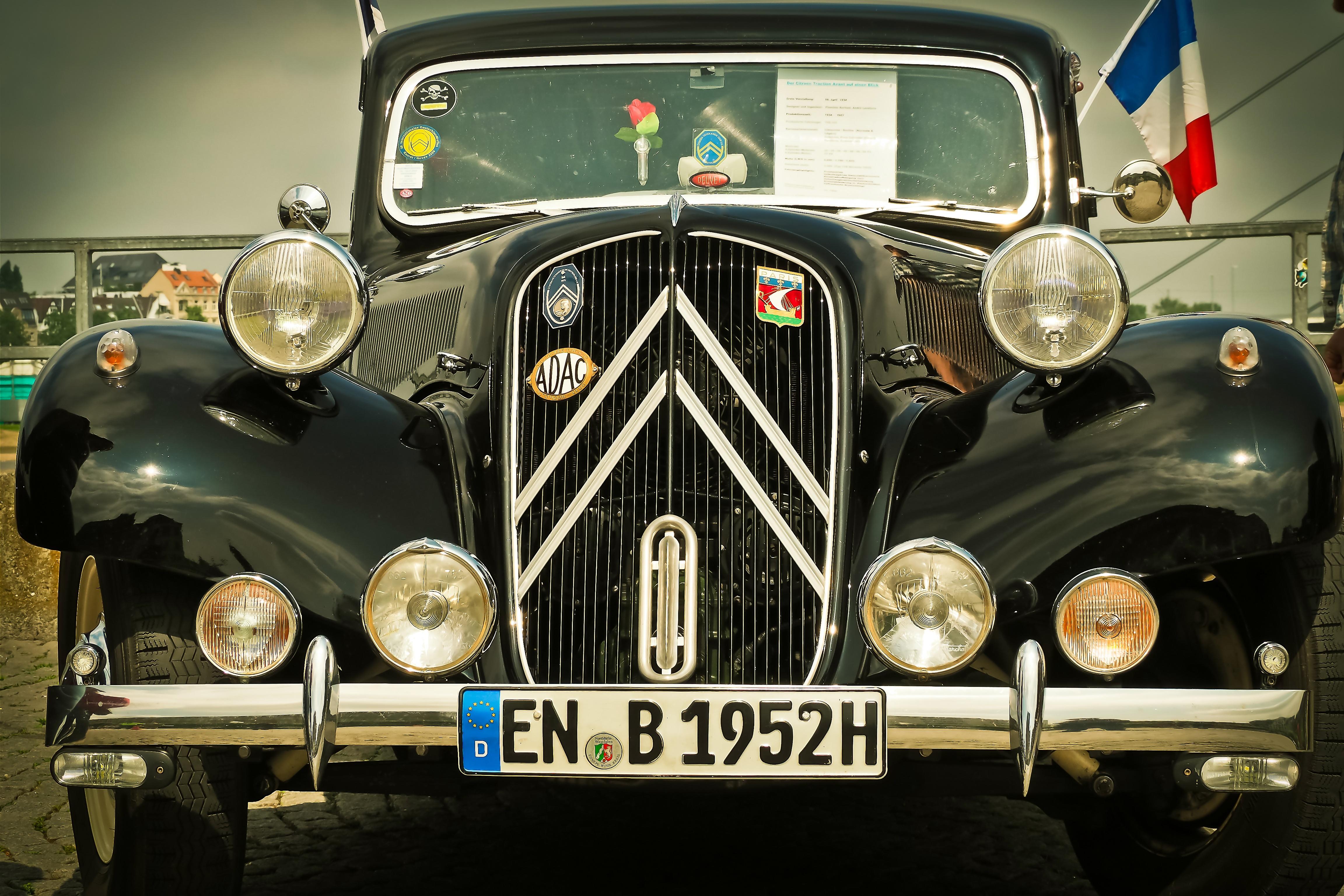 Free Images : road, retro, france, auto, nostalgia, old car ...