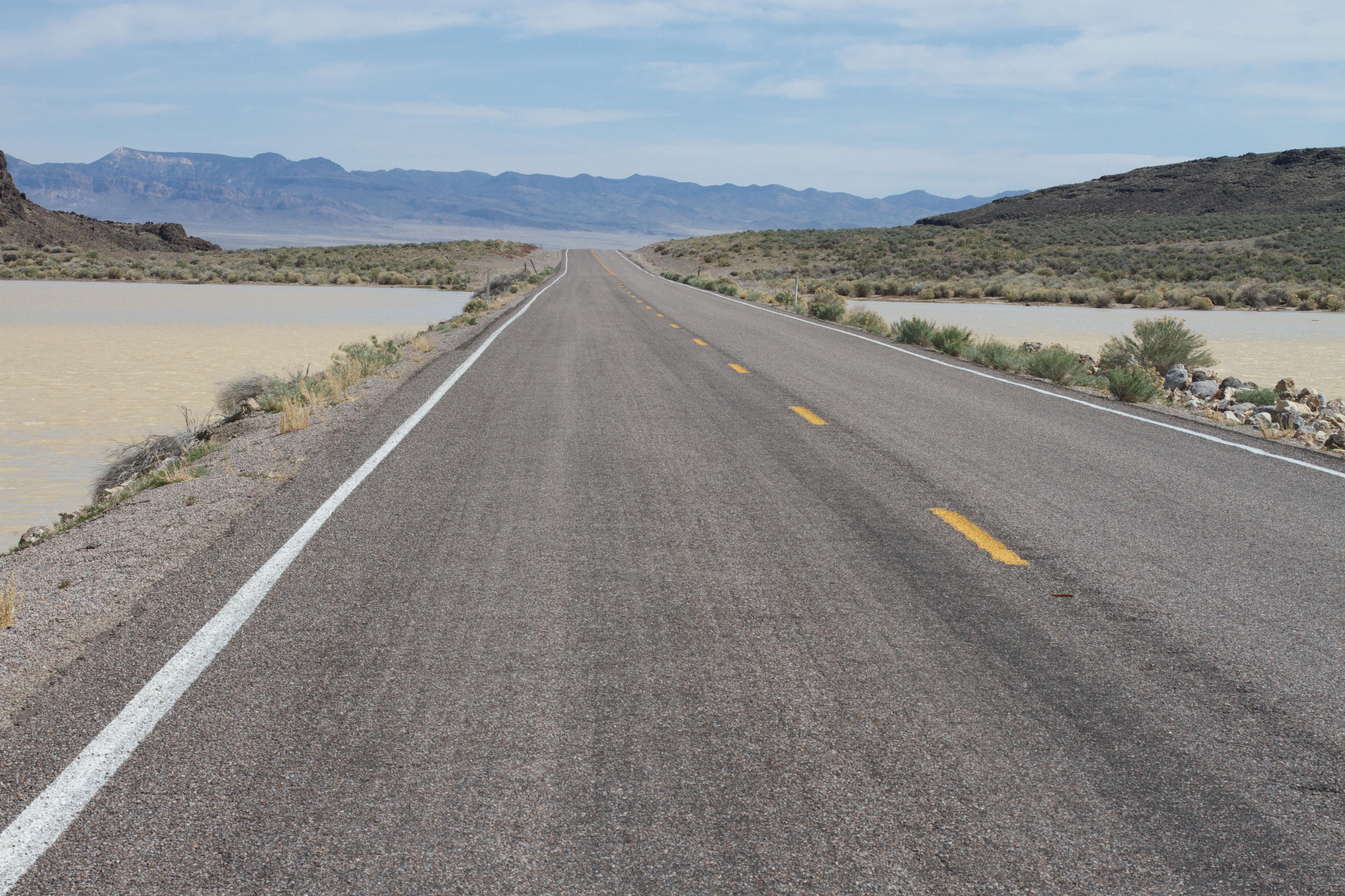 Gambar jalan raya menyetir aspal Jalan tanah jalur