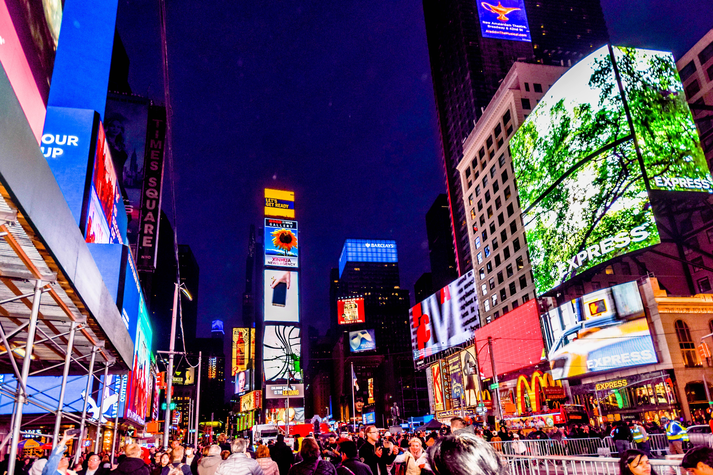 Well-known Banco de imagens : estrada, noite, urbano, Nova york, Vezes  XS36