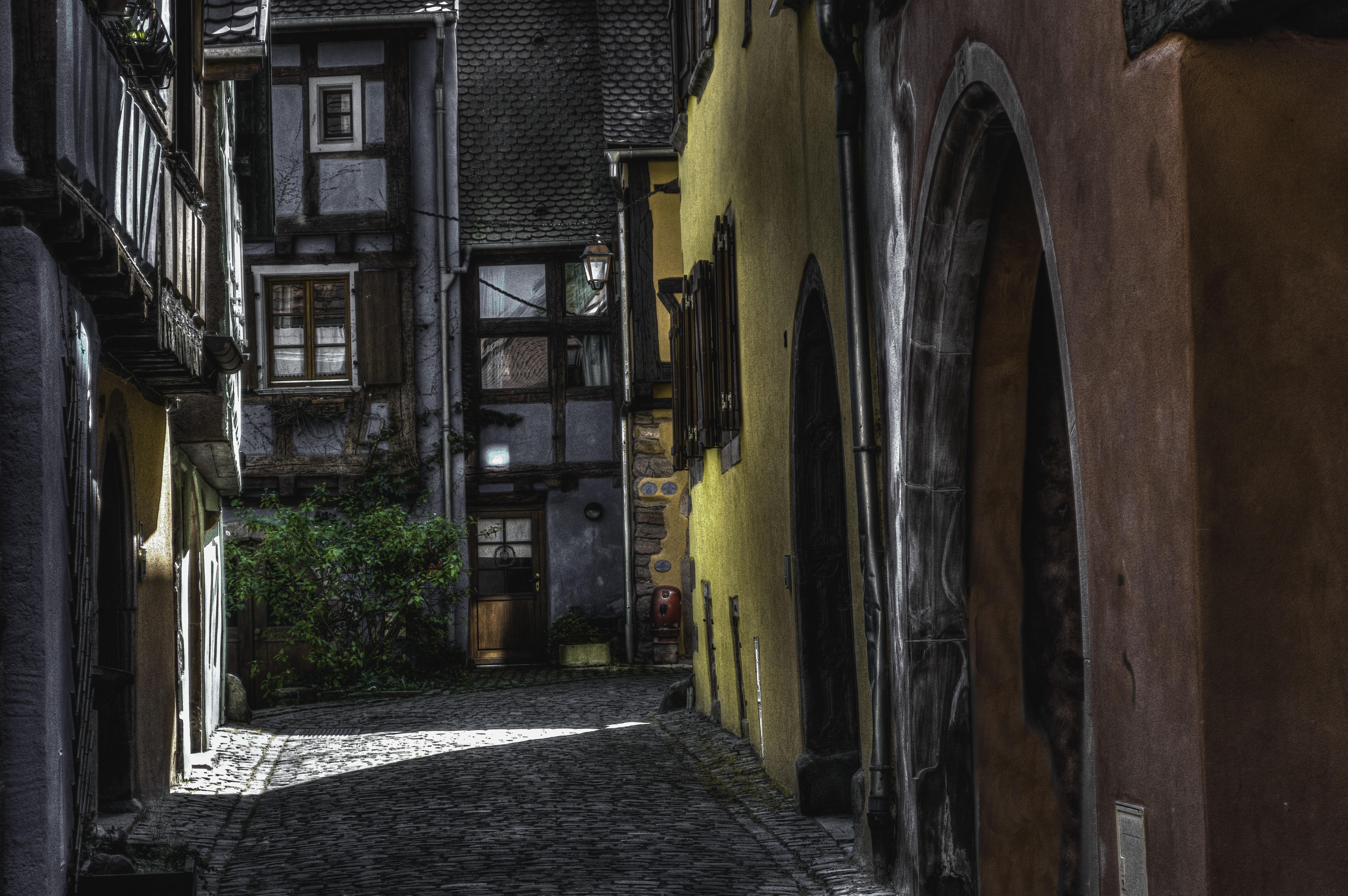 Immagini belle : strada casa cittadina vicolo francia oscurità