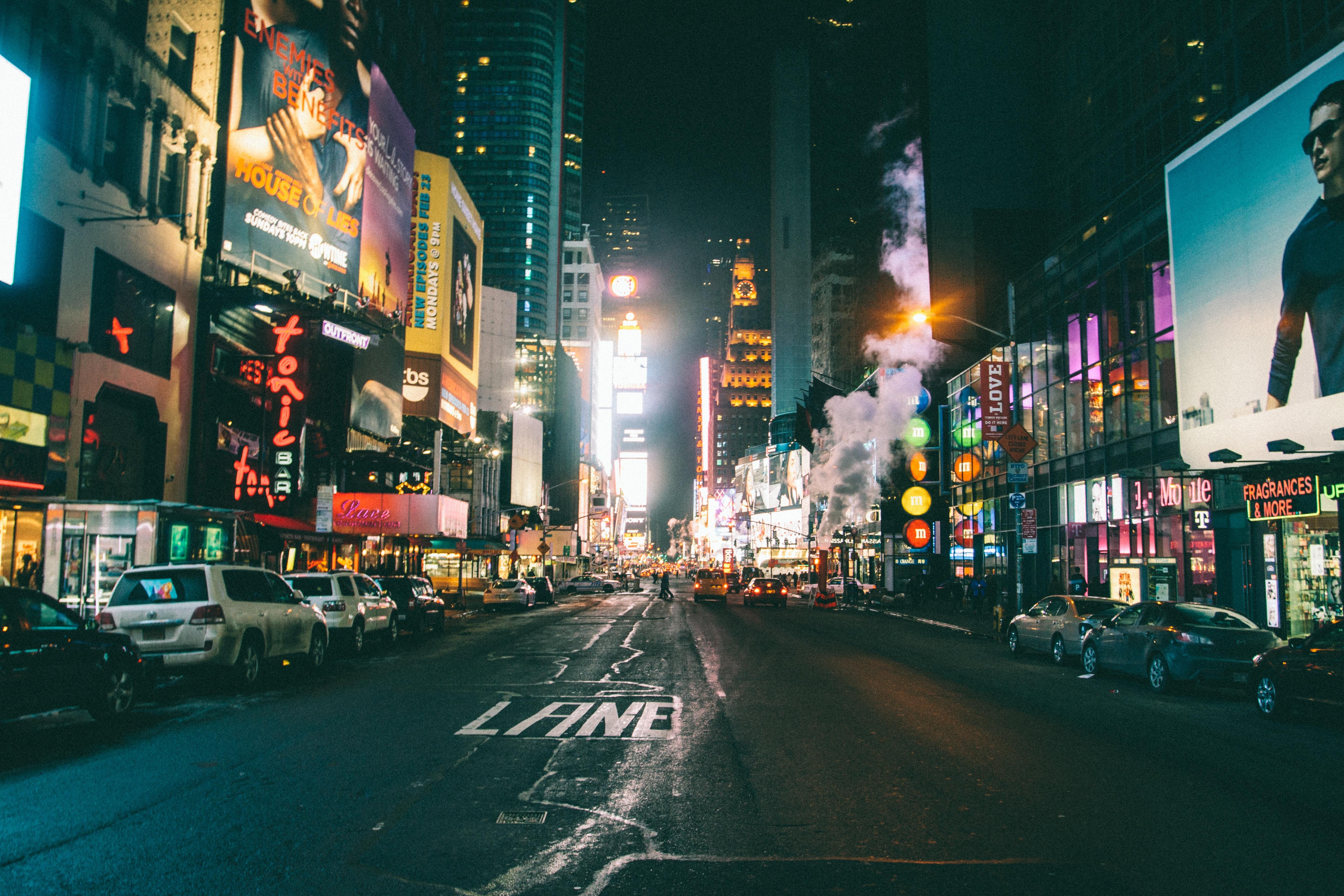 Картинки город ночью улицы, юбилеем света пожеланиями