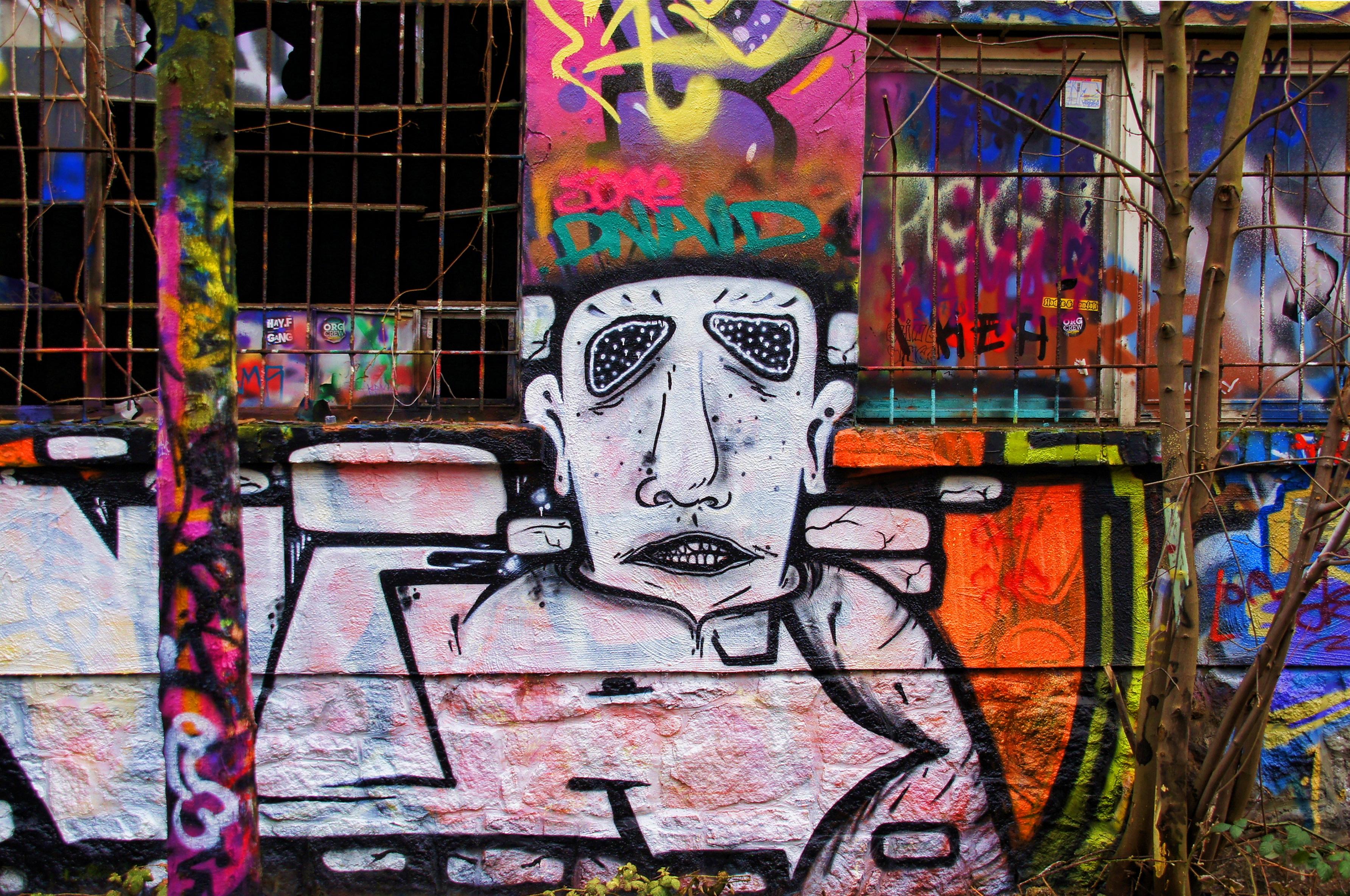 Grafitti wall painting - Road Street Spray Color Graffiti Painting Street Art Art Leipzig Wall Painting Sprayer Hauswand Urban Area