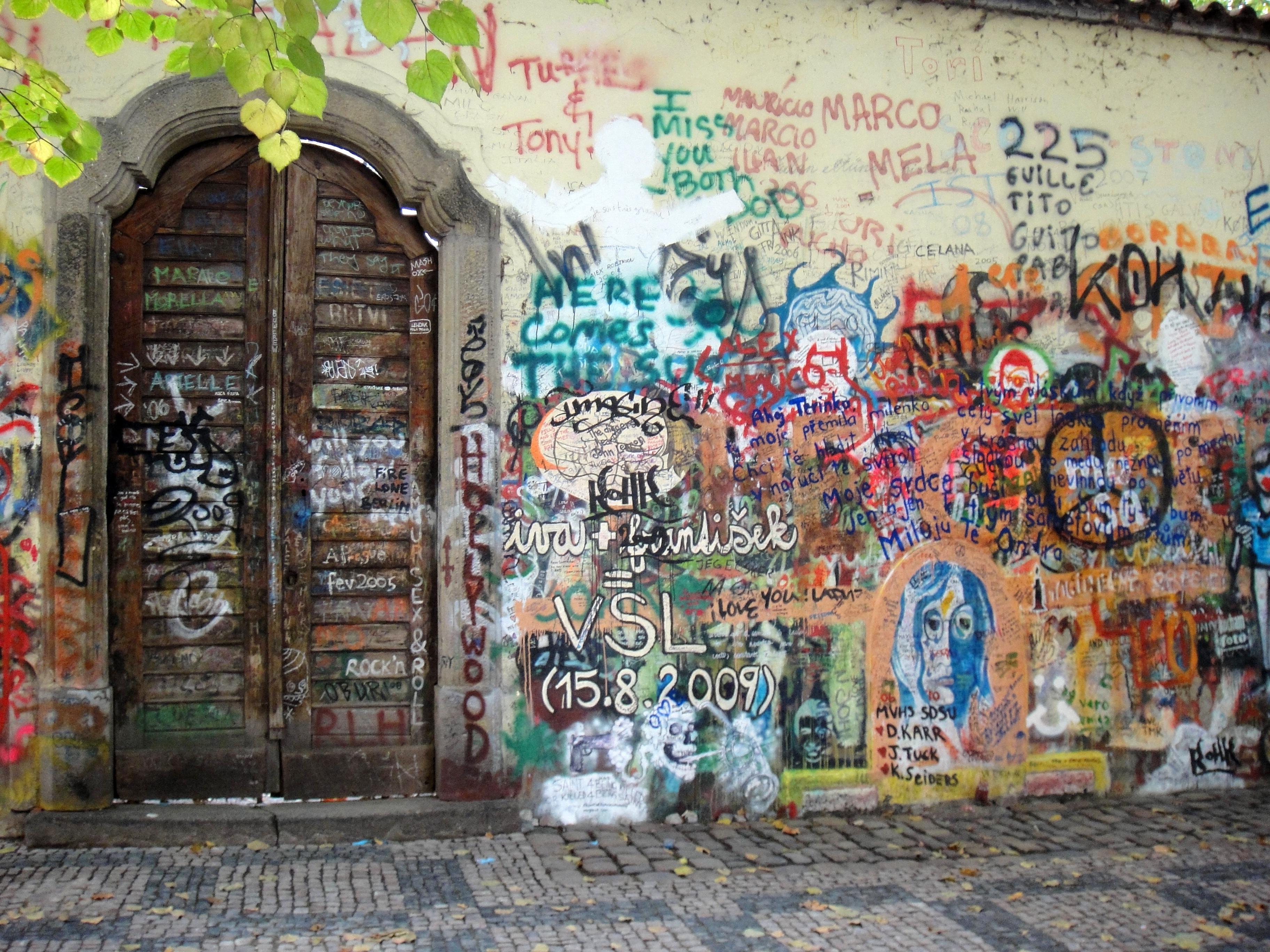 free images road peace prague colorful graffiti