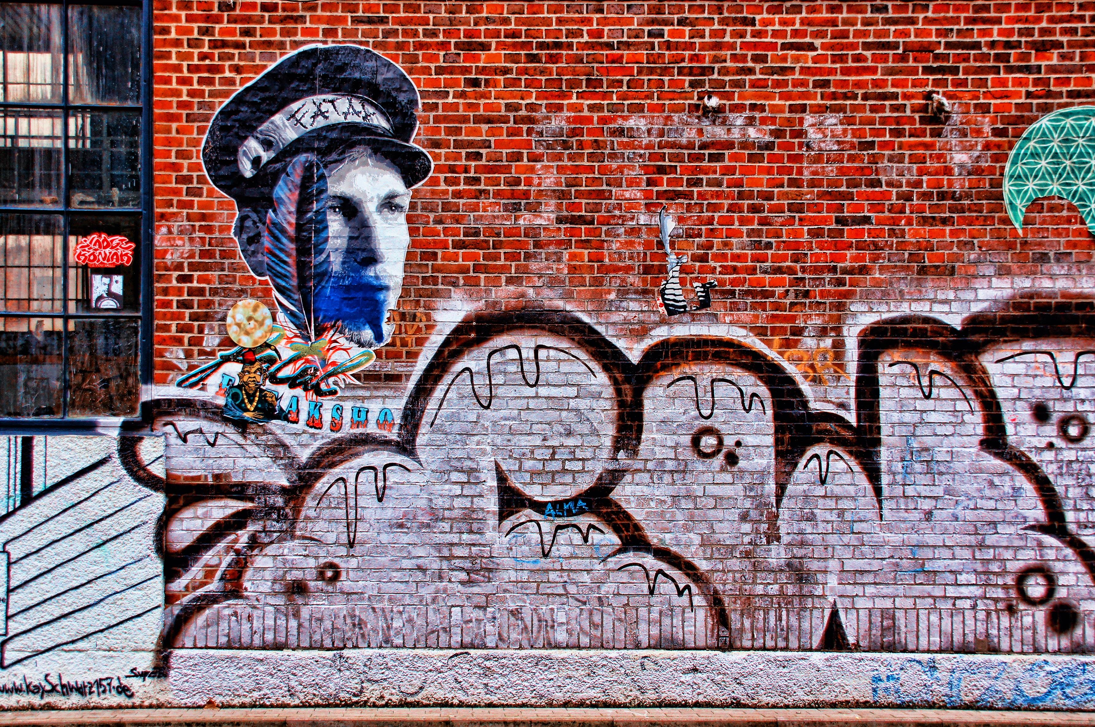 Grafitti wall painting - Road Street Wall Spray Factory Graffiti Painting Street Art Art Mural Leipzig Wall Painting Sprayer Hauswand