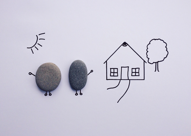 Gambar Batu Rumah Fon Sketsa Ilustrasi Logo Organ Bentuk