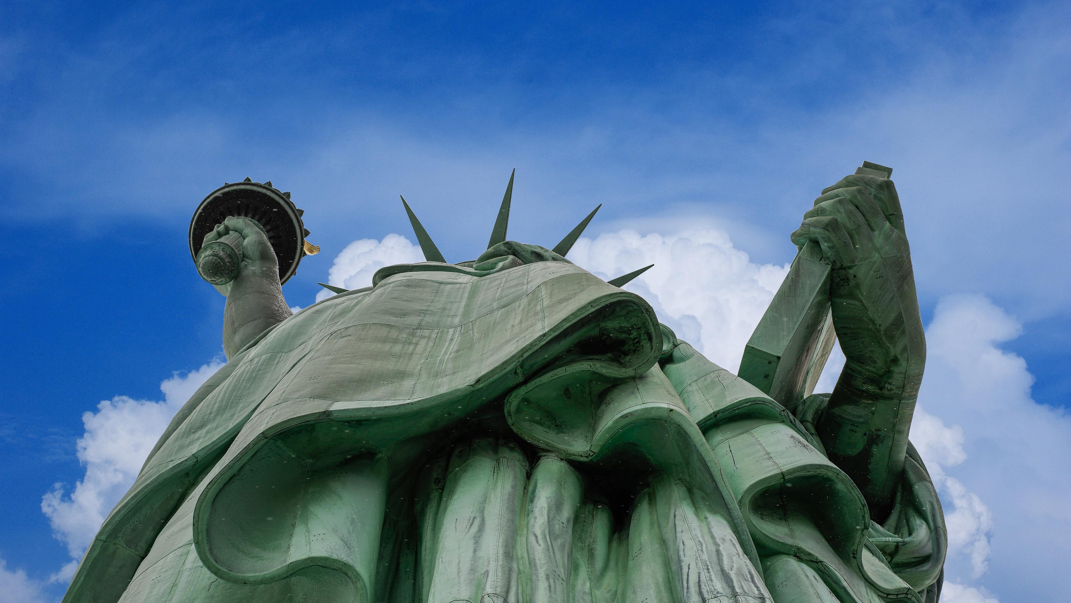 Kupfer Grüne Patina kostenlose foto rock himmel weiß monument statue tablette