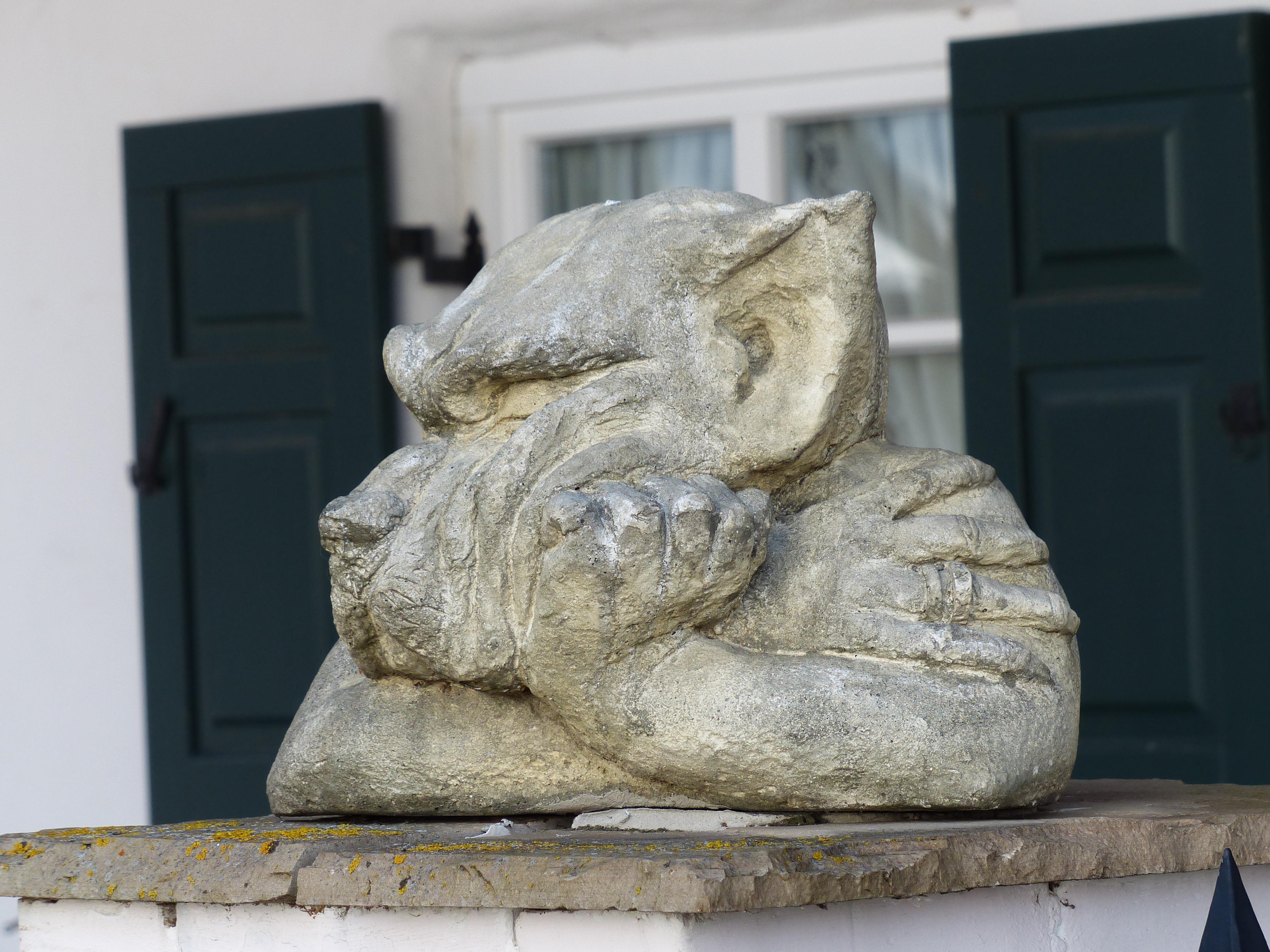 Free Images : rock, wood, dog, monument, wolf, gargoyle, sculpture ...
